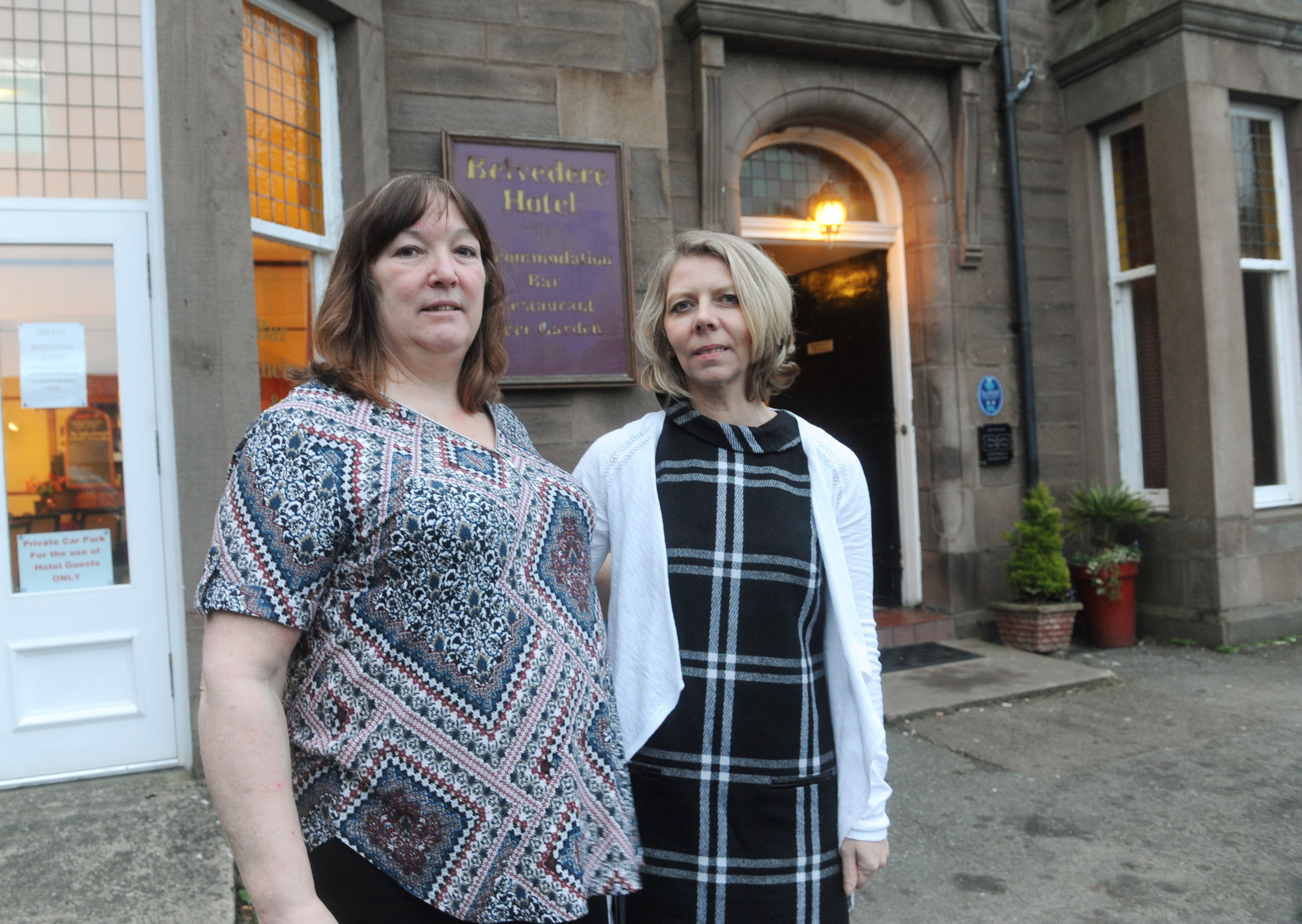 Shelia Haworth, owner of The Belvedere Hotel, left, and Michelle Ward,  owner of The Royal Hotel