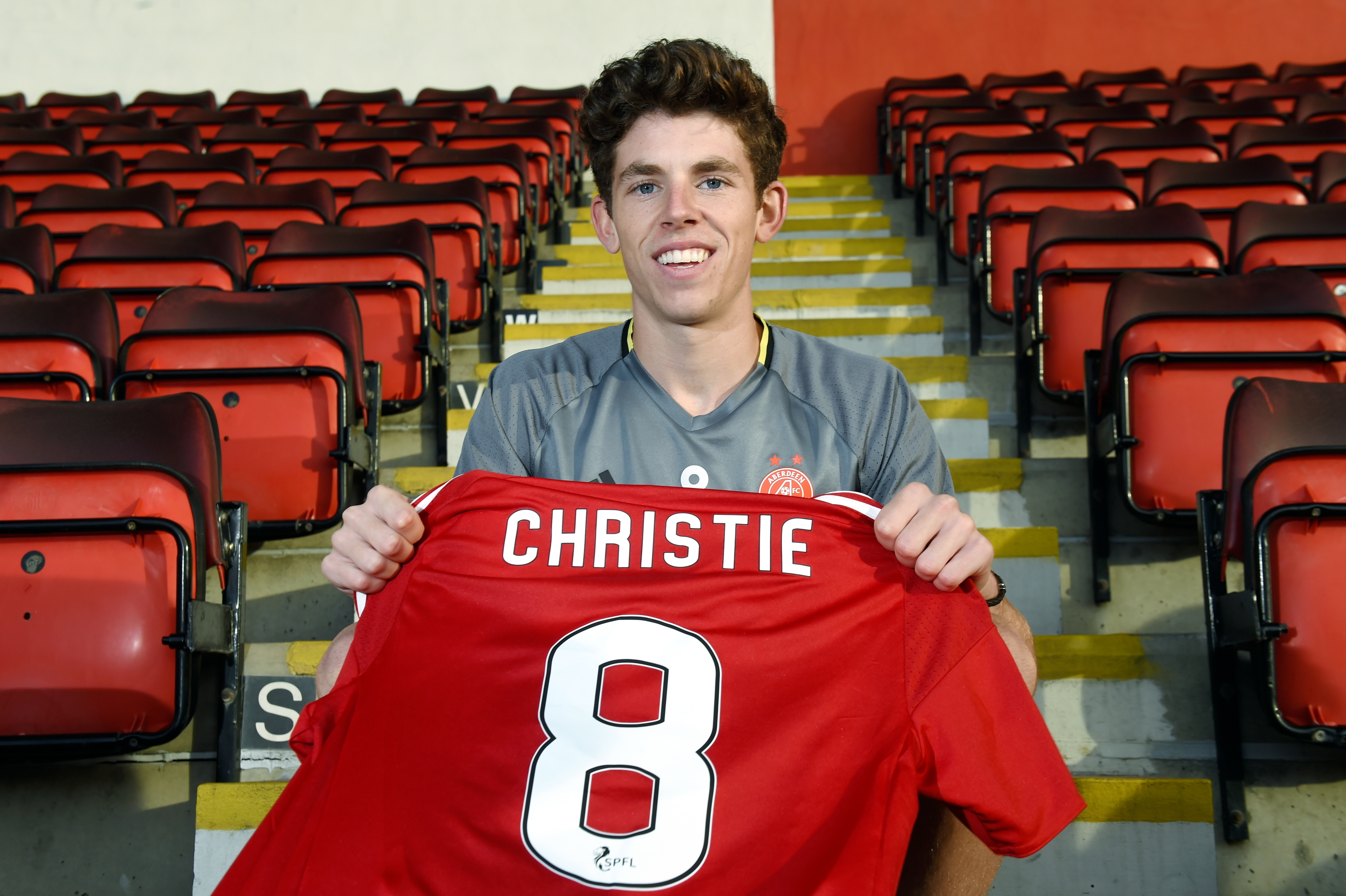 Ryan Christie will wear the number eight shirt vacated by Wes Burns' exit.