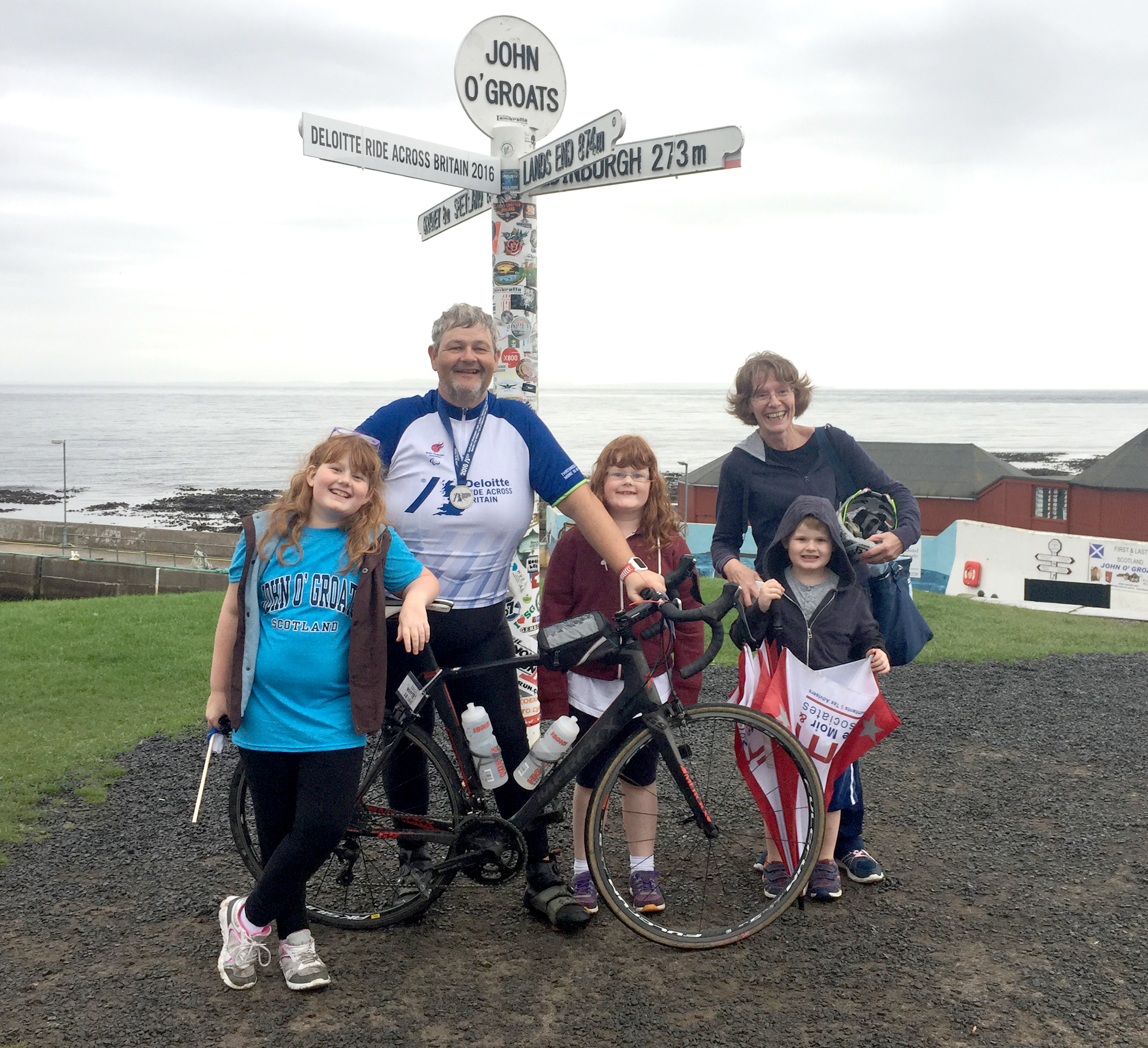 Iain Whyte with wife Val, and children Morag, Heather and Angus.