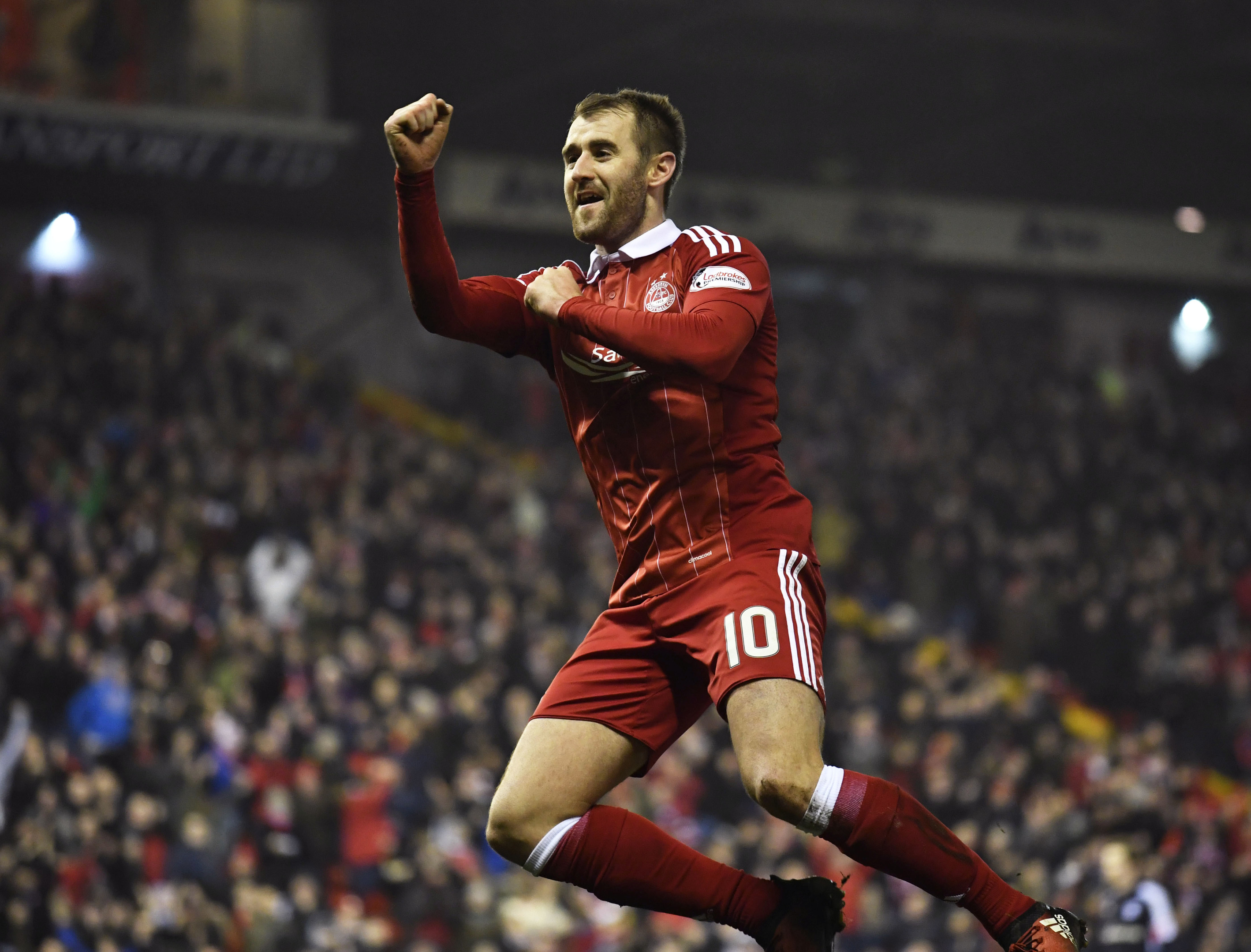DOUBLE:  Niall McGinn was the star man for Aberdeen against Dundee.
