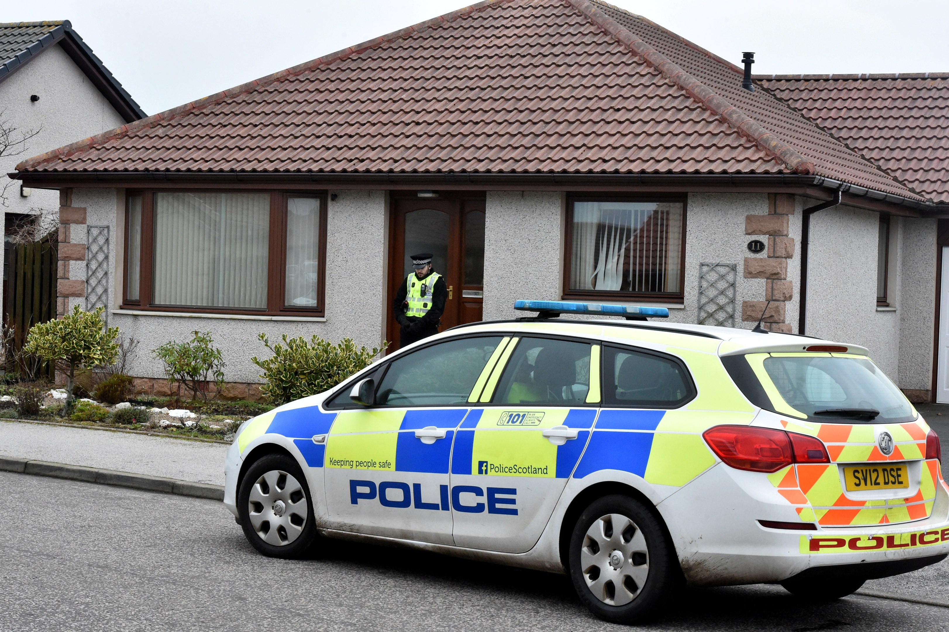 The scene of the alleged incident in Peter Buchan Drive, Peterhead.