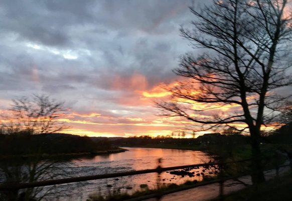 By Kay Robb at the River Dee.