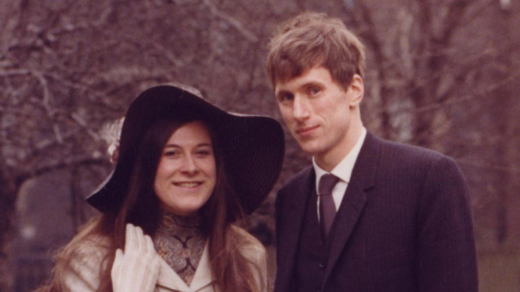 Dr Brenda Page with her husband Christopher Harrison.