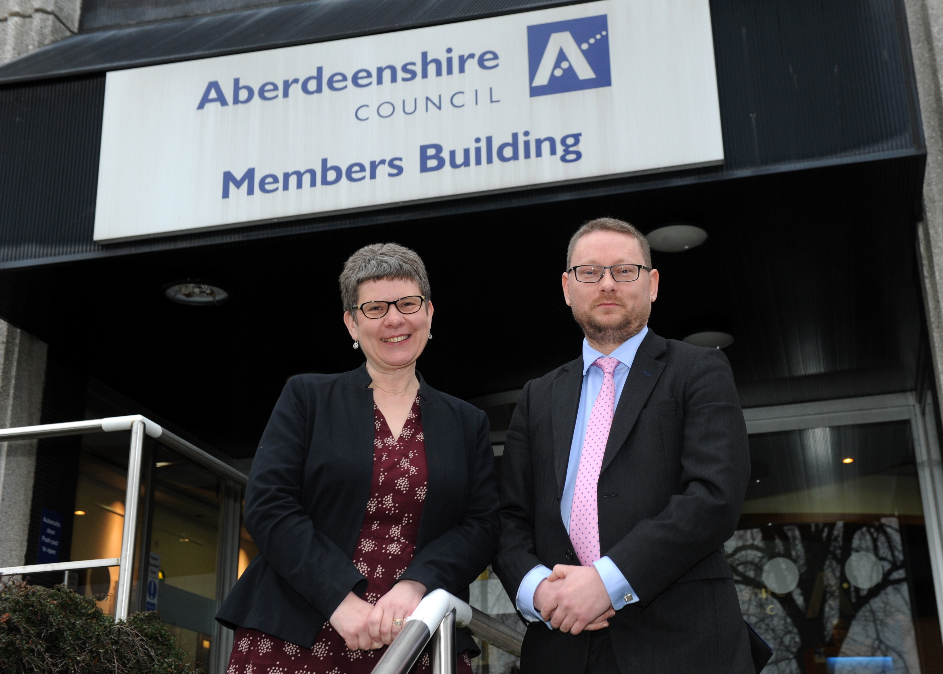 Aberdeenshire Council co-leaders Alison Evison and Richard Thomson.