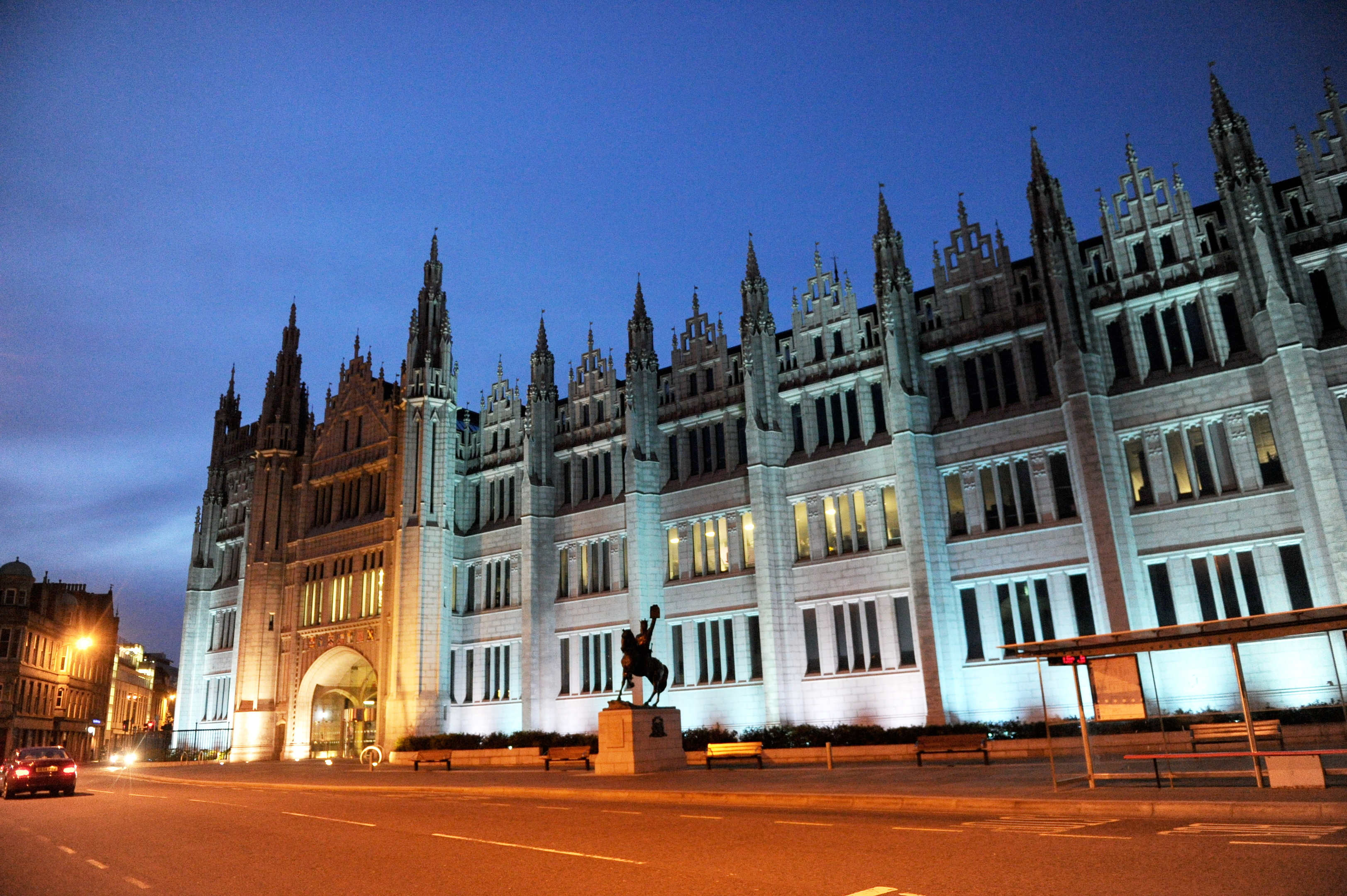 Landmarks across the city could join Marischal College in being lit