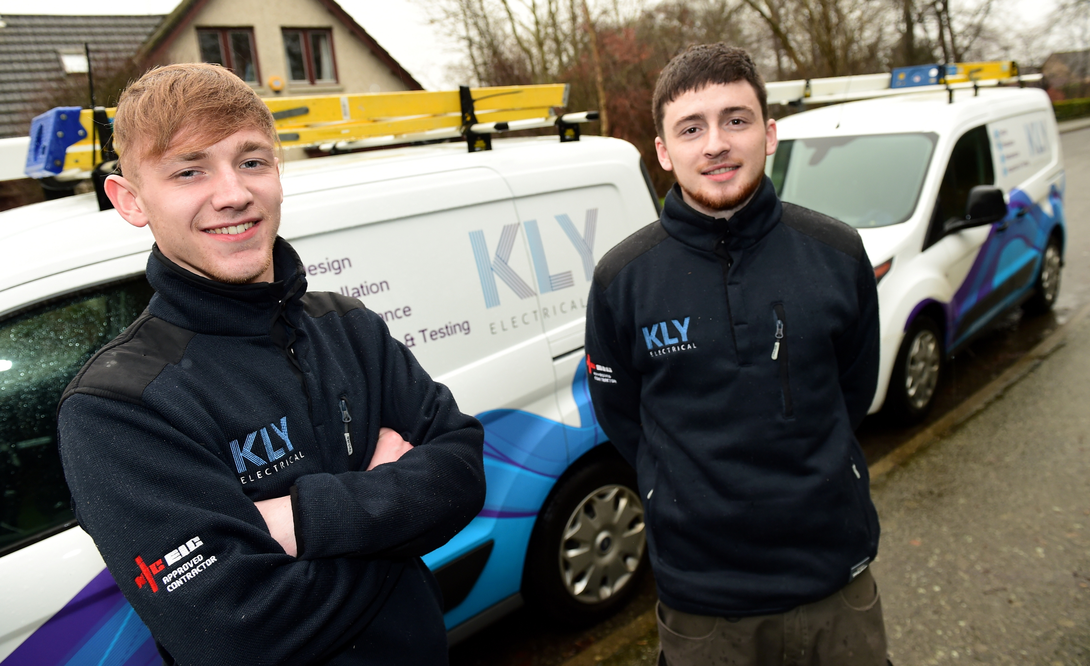 Alex Walker, left, and Keith Duncanson would recommend apprenticeships.
