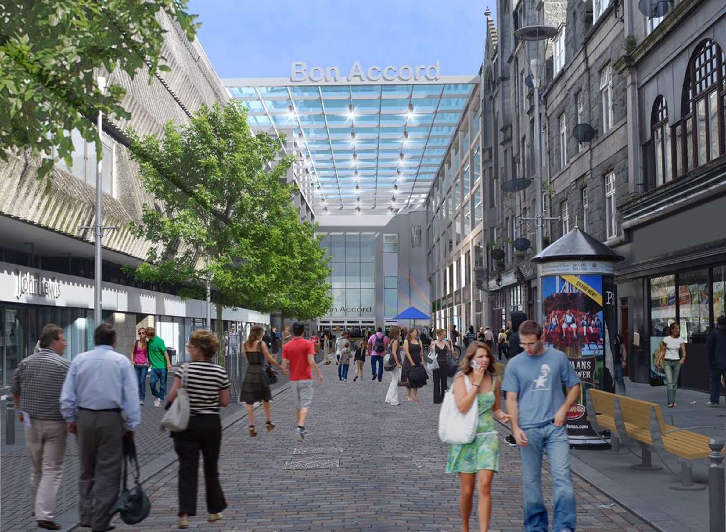 What the new layout of George Street could look like after work is complete.