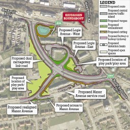 land:  The plans for the Haudagain roundabout and, inset, Jim McGonigle.