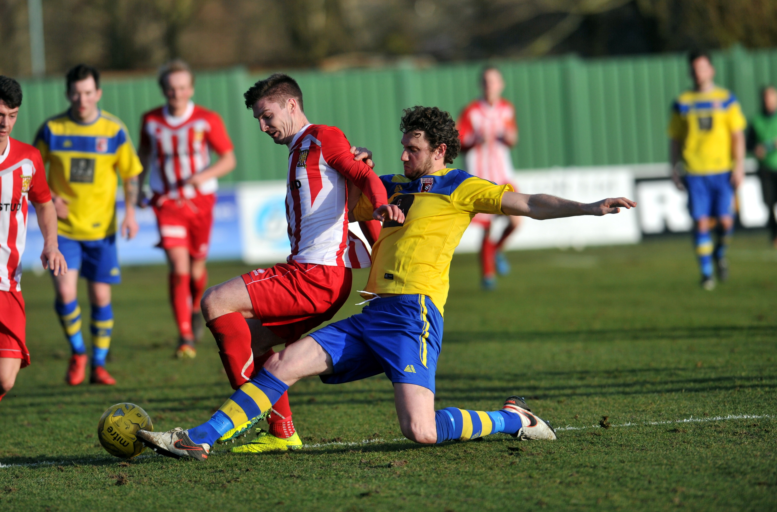 Ryan Broadhurst, right,  battles with Formartine's Graeme Rodger. picture by heather fowlie