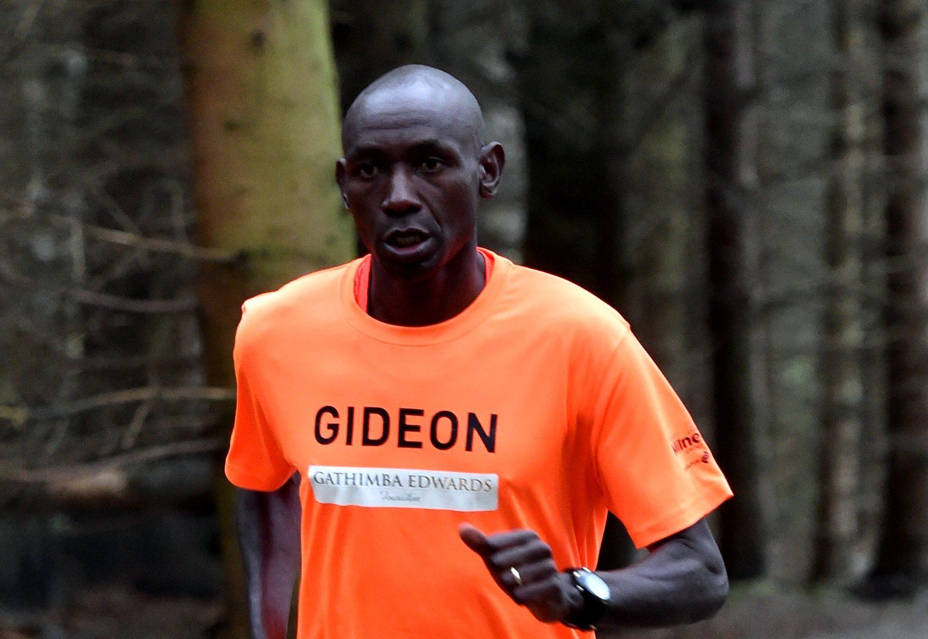 Gideon Gathimba   recorded a time of 14min 48secs in the Hazlehead park run 5km.