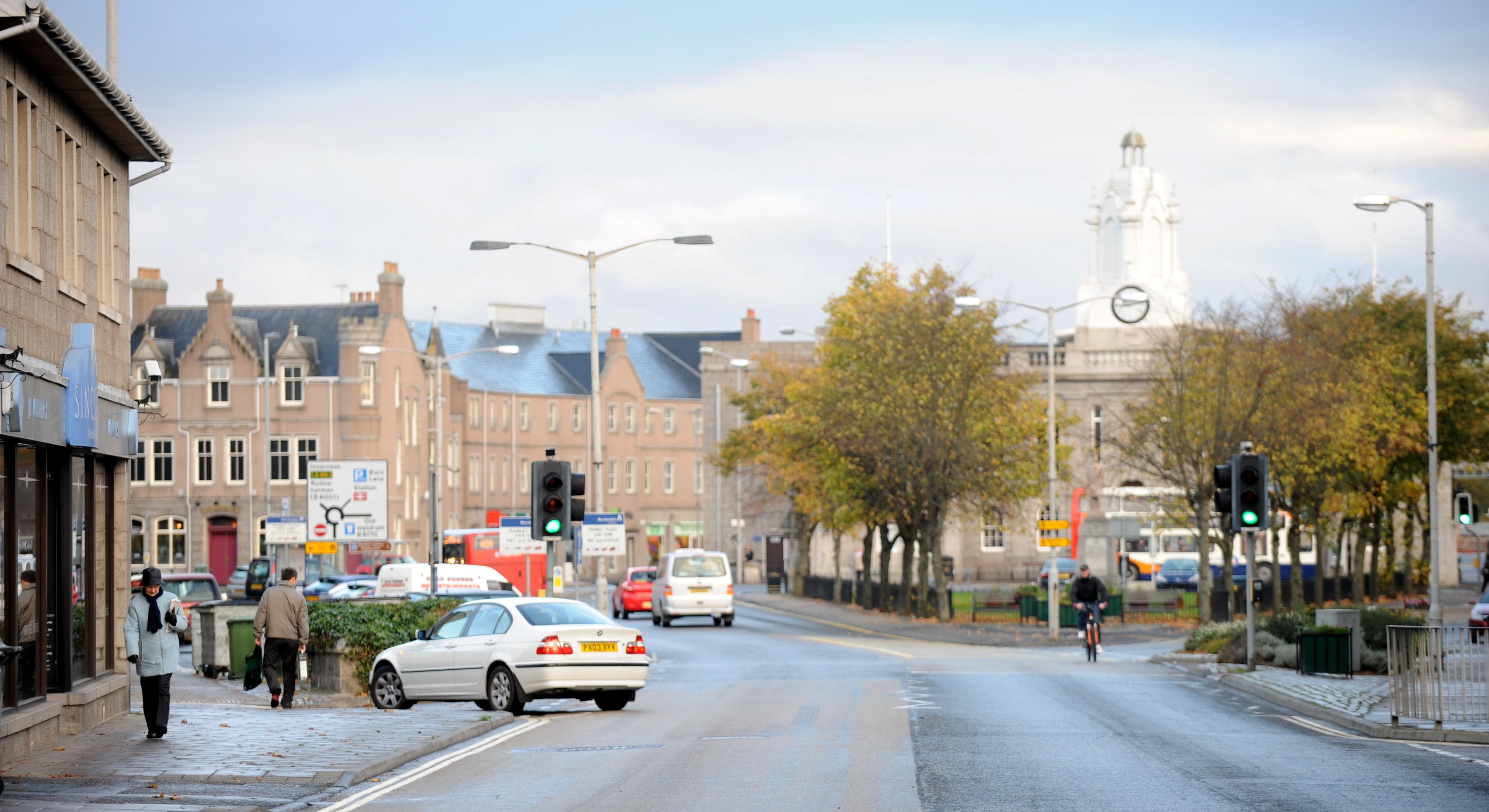 Inverurie town centre.