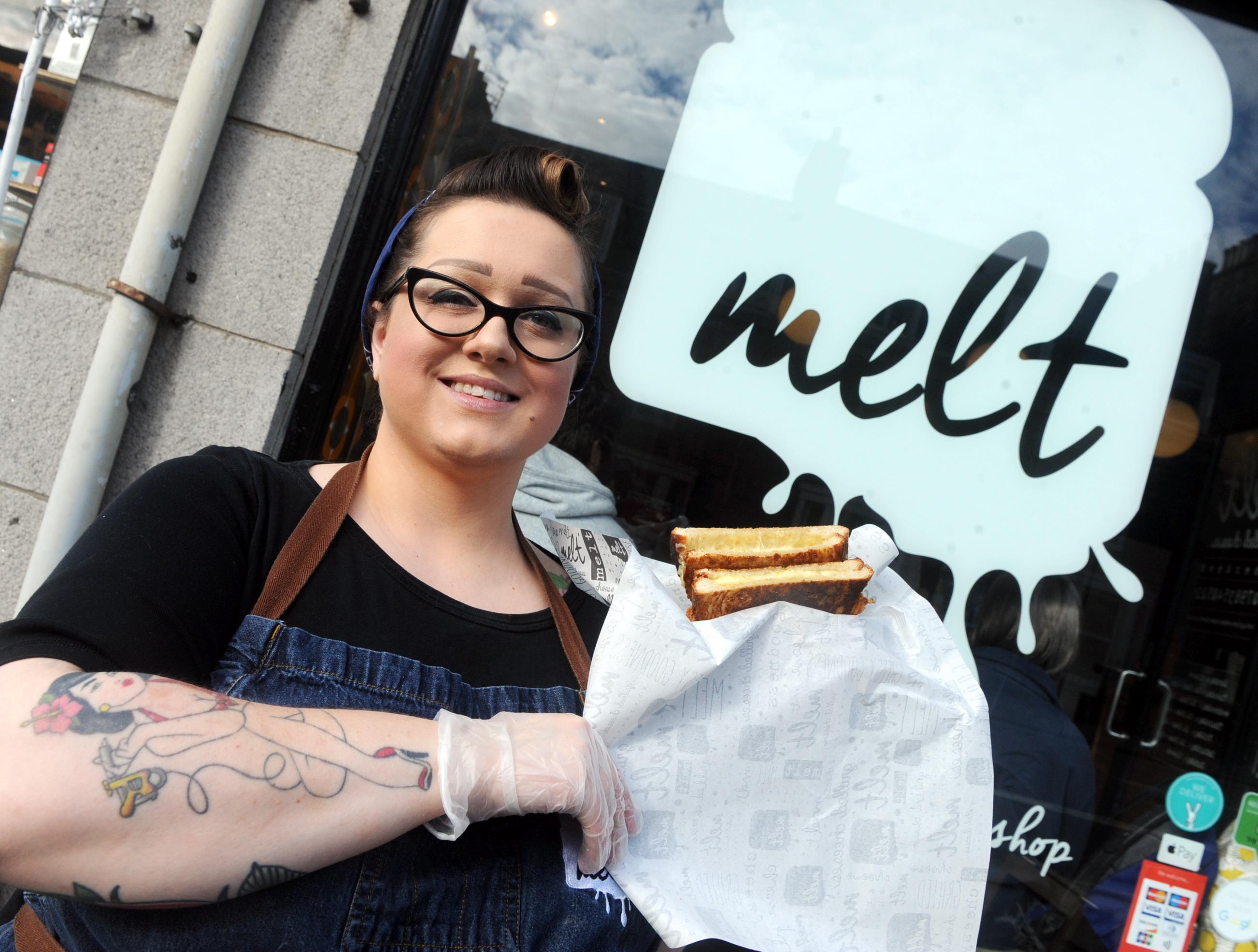Melt owner Mechelle Clark outside her Holburn Street shop.