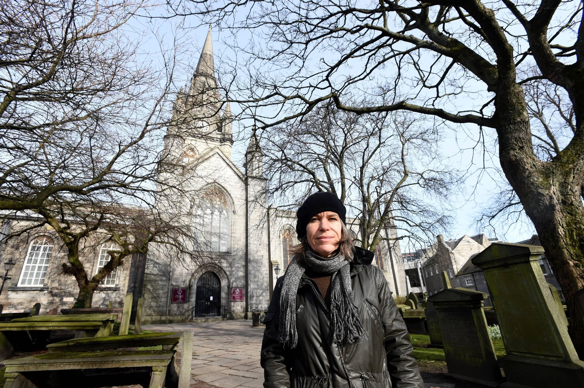 Janet McEwan at St Nicholas Kirk ahead of the festival.