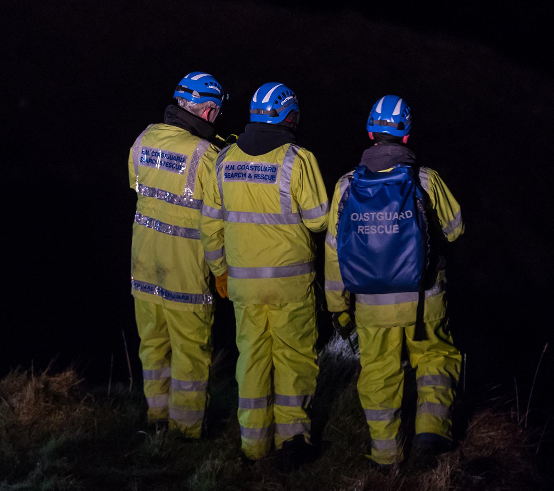 The Coastguard crew are at the scene.