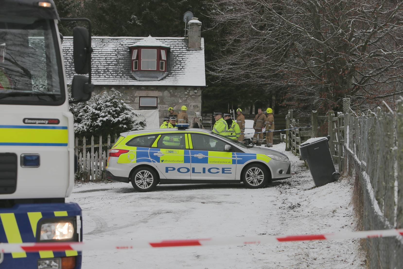 Police said the blaze was reported at the property in Kindrochit Drive in Braemar shortly after 6am today