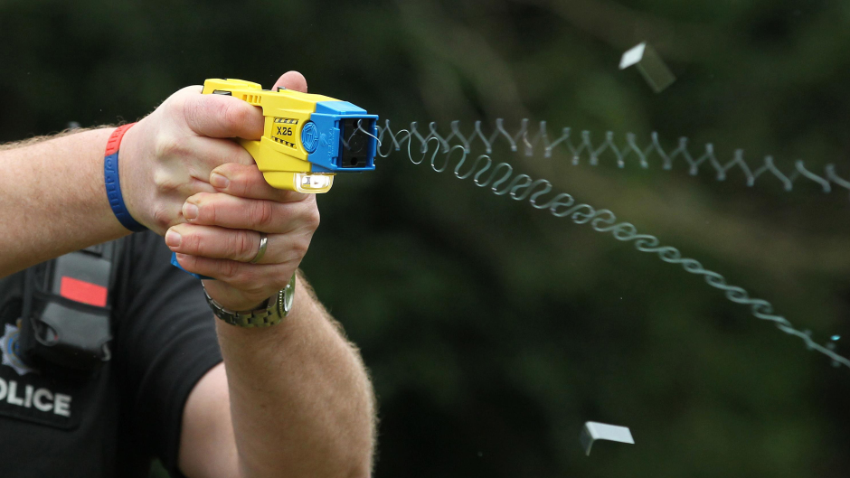 The man was tasered by police three times during the incident on Holburn Street