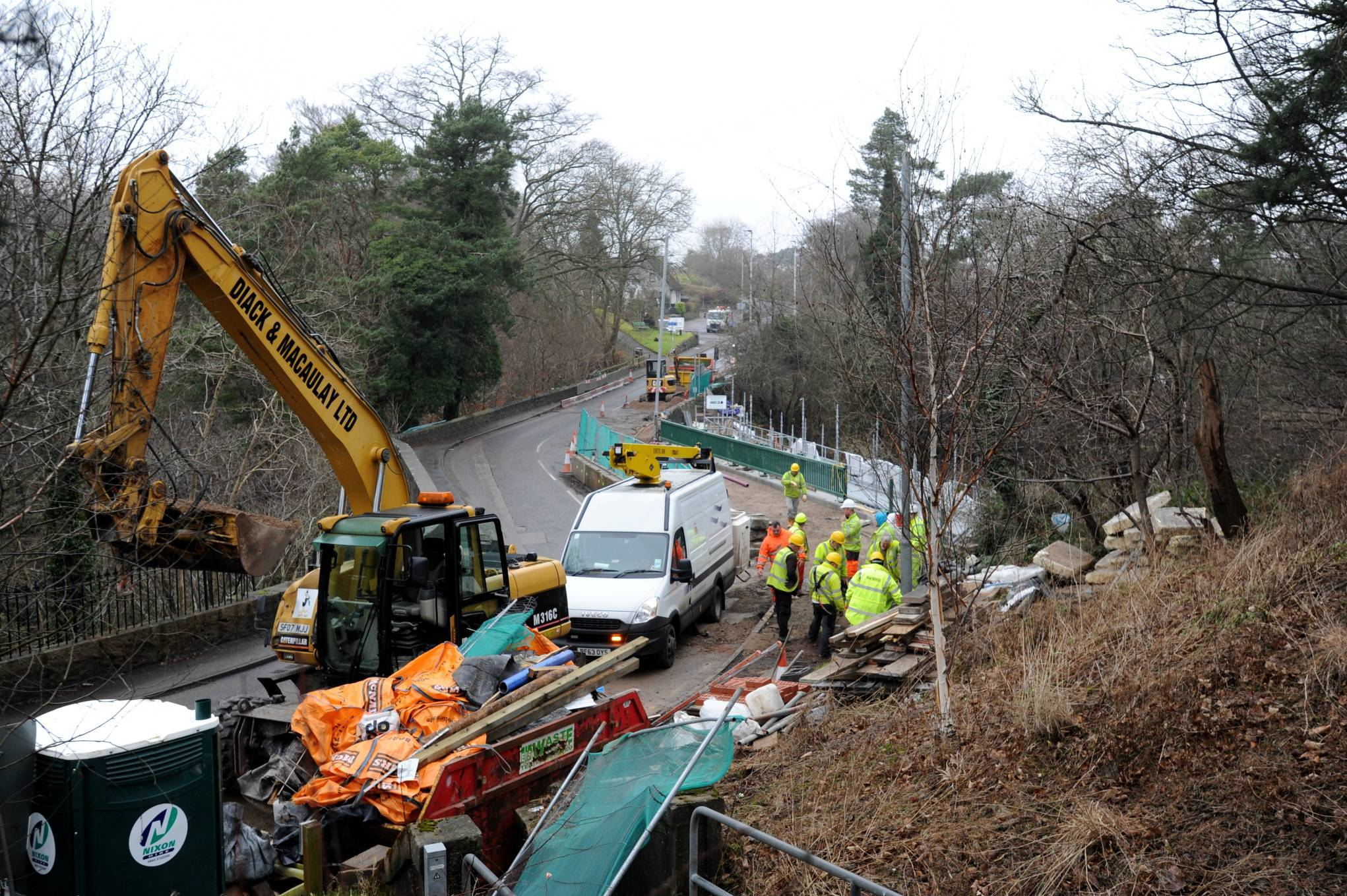The Rob Roy Bridge was due to reopen tonight.