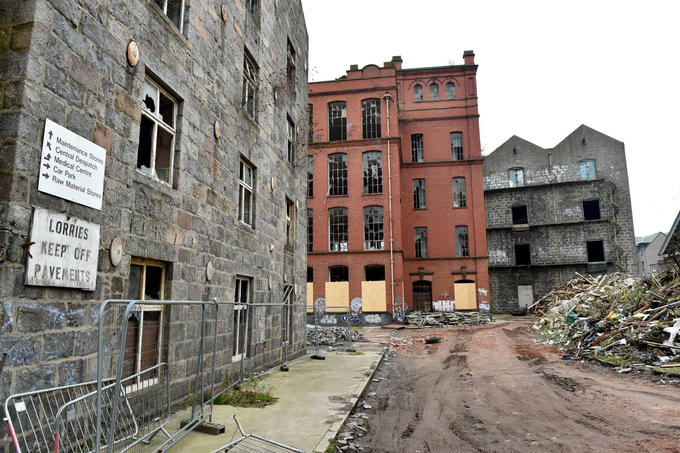 The former Broadford Works at Maberly Street, Aberdeen.