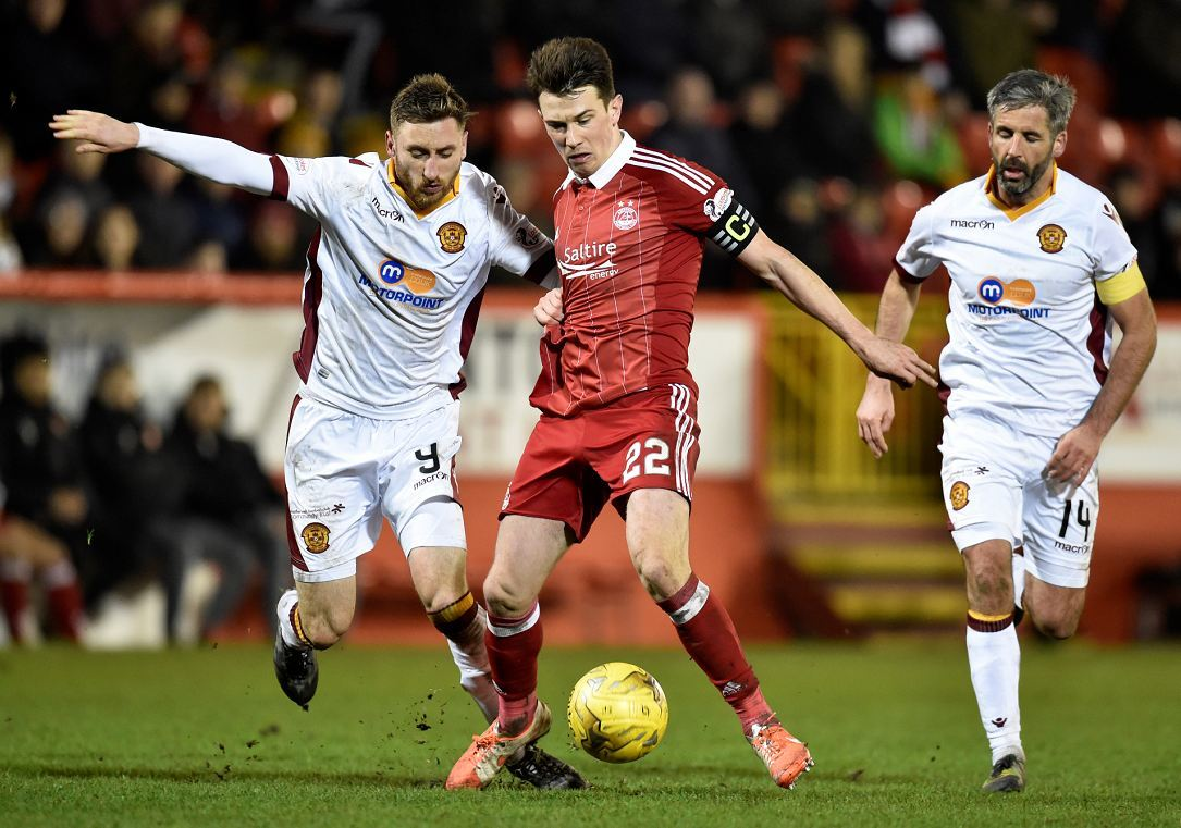 Ryan Jack in action against Motherwell.