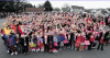 CASH: Youngsters at Balmedie School organised a flash mob