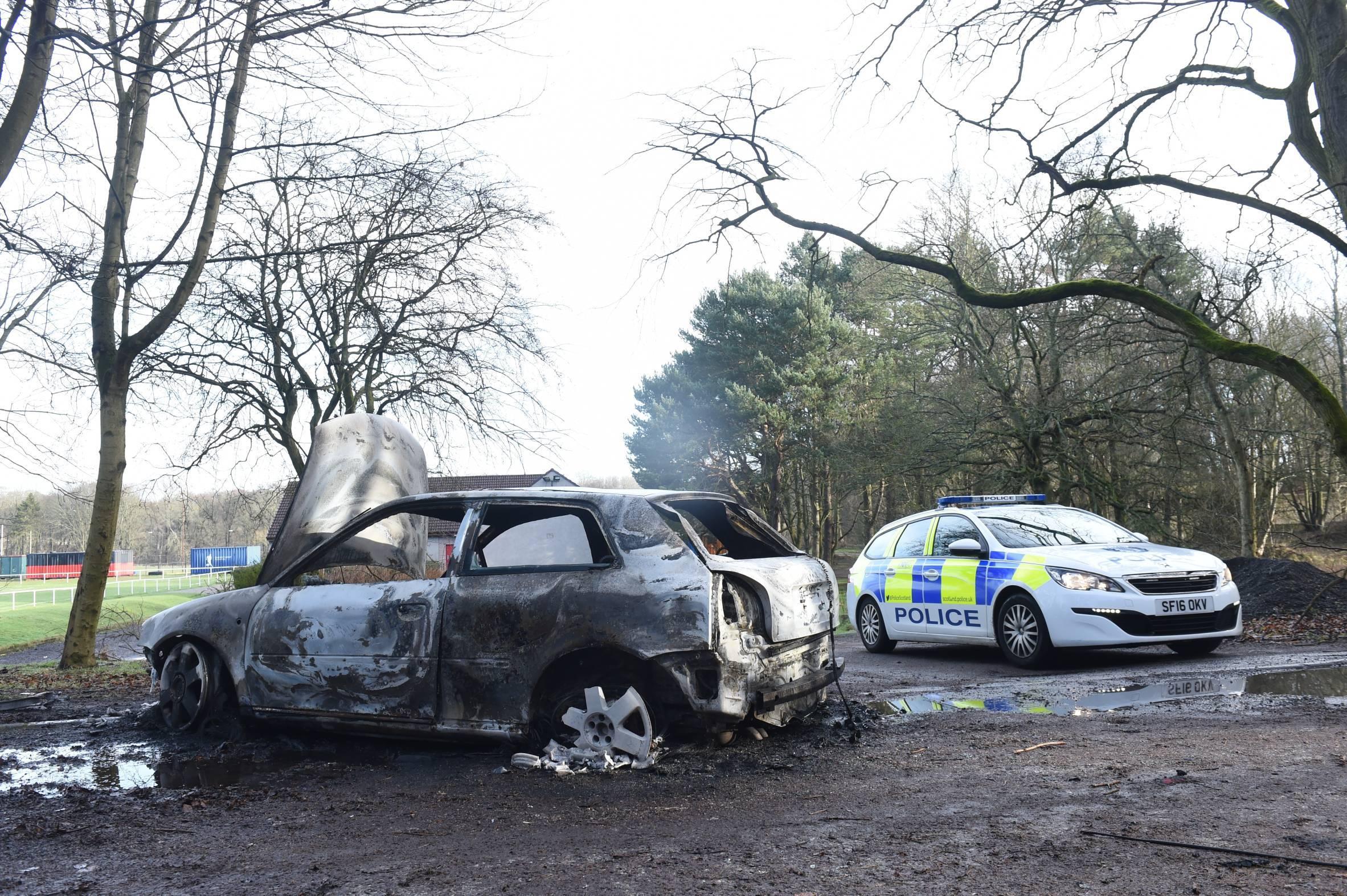 Burnt our car