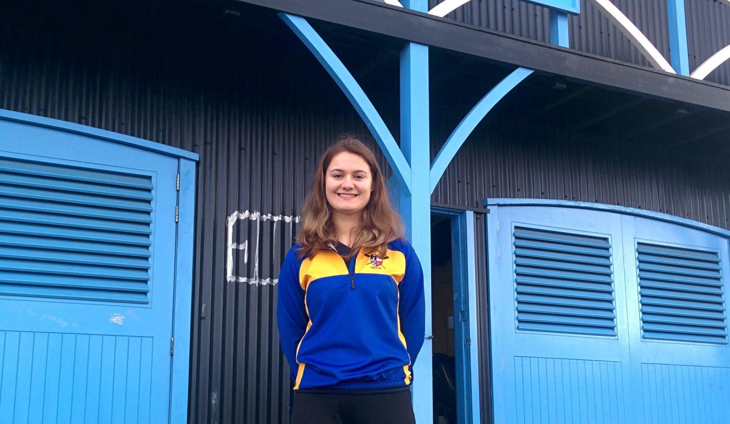 Aberdeen University's German  rower Anna-Sophie  Tirre.