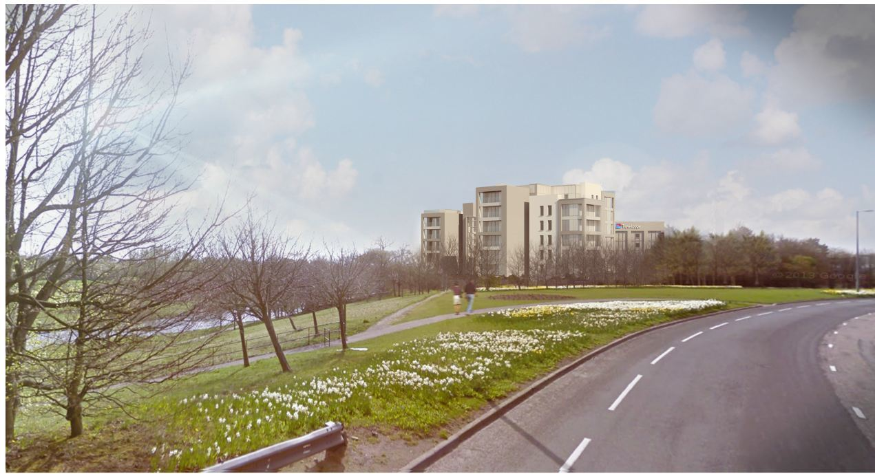 An artist's vision of how the flats and Travelodge could look.