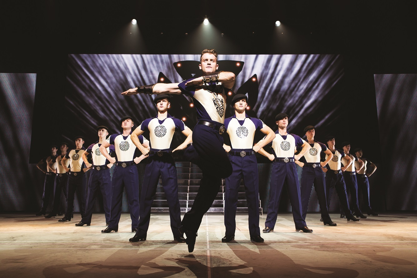 James Keegan performing a routine with some of the other dancers.