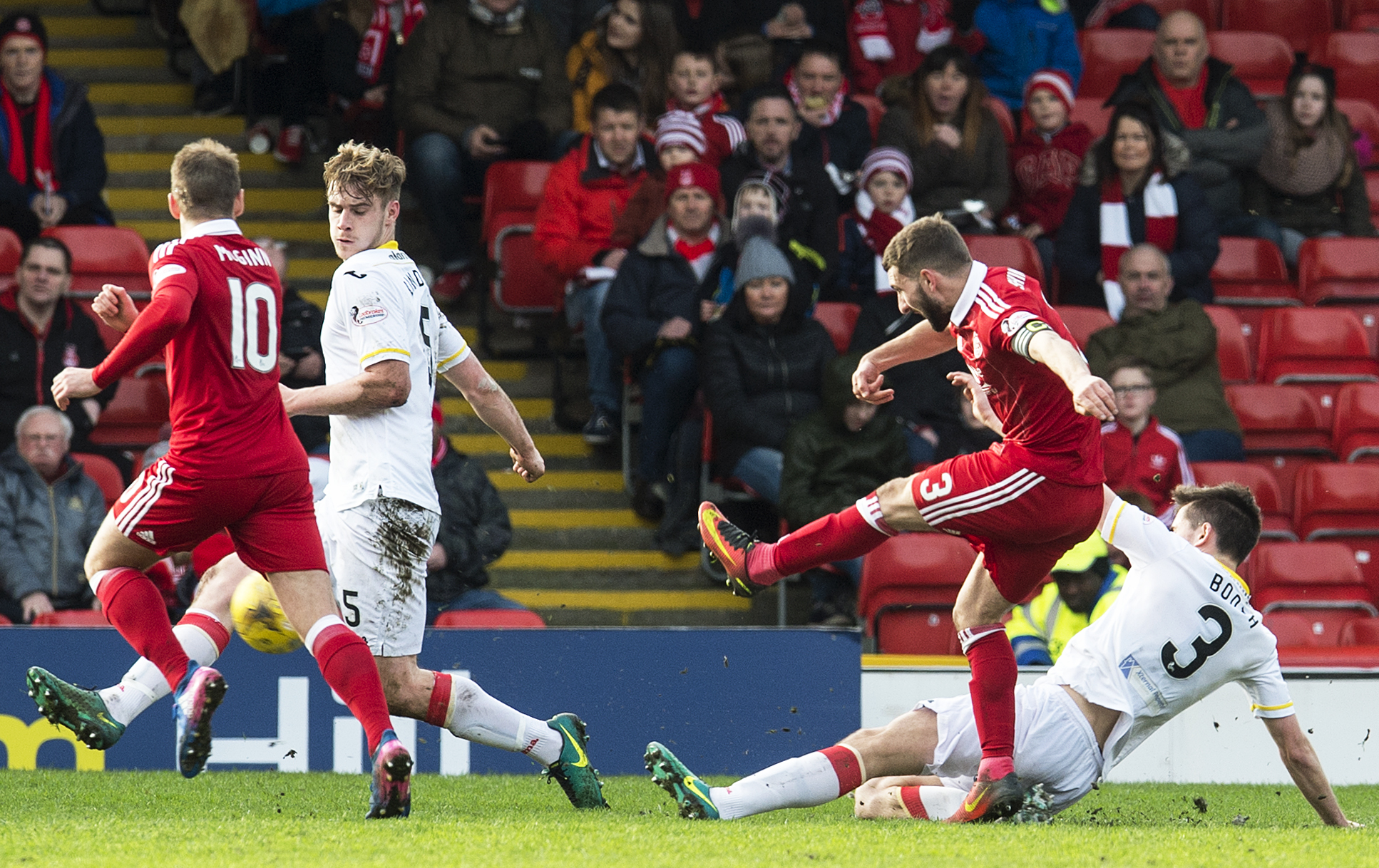 Graeme Shinnie scored against Partick to get the Dons into the semi.