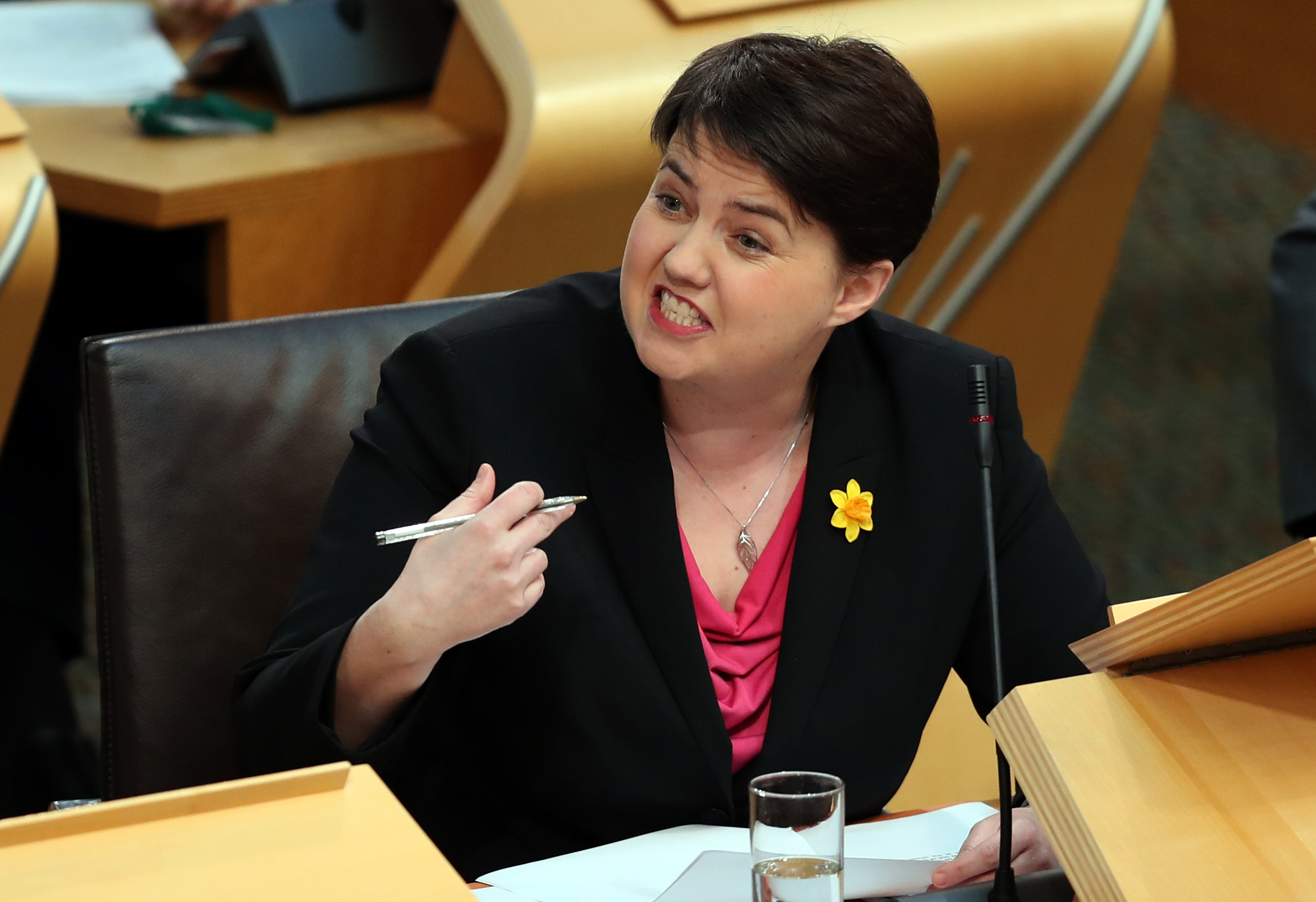 ACCUSATION: Scottish Tory leader Ruth Davidson focused on the oil price collapse.