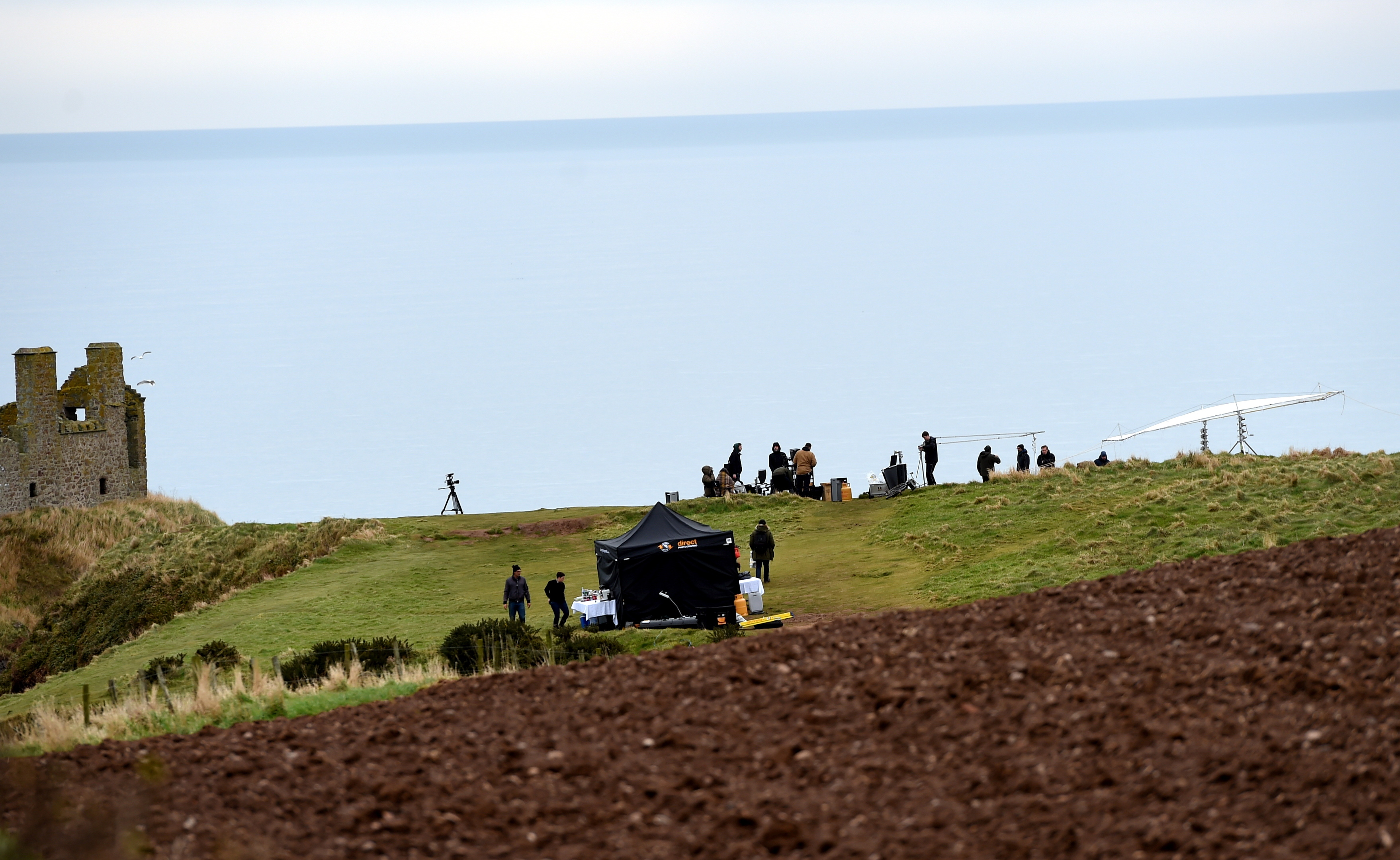 STARRING ROLE:The crew at Dunnottar and, inset, Stella Maxwell.  picture by darrell benns