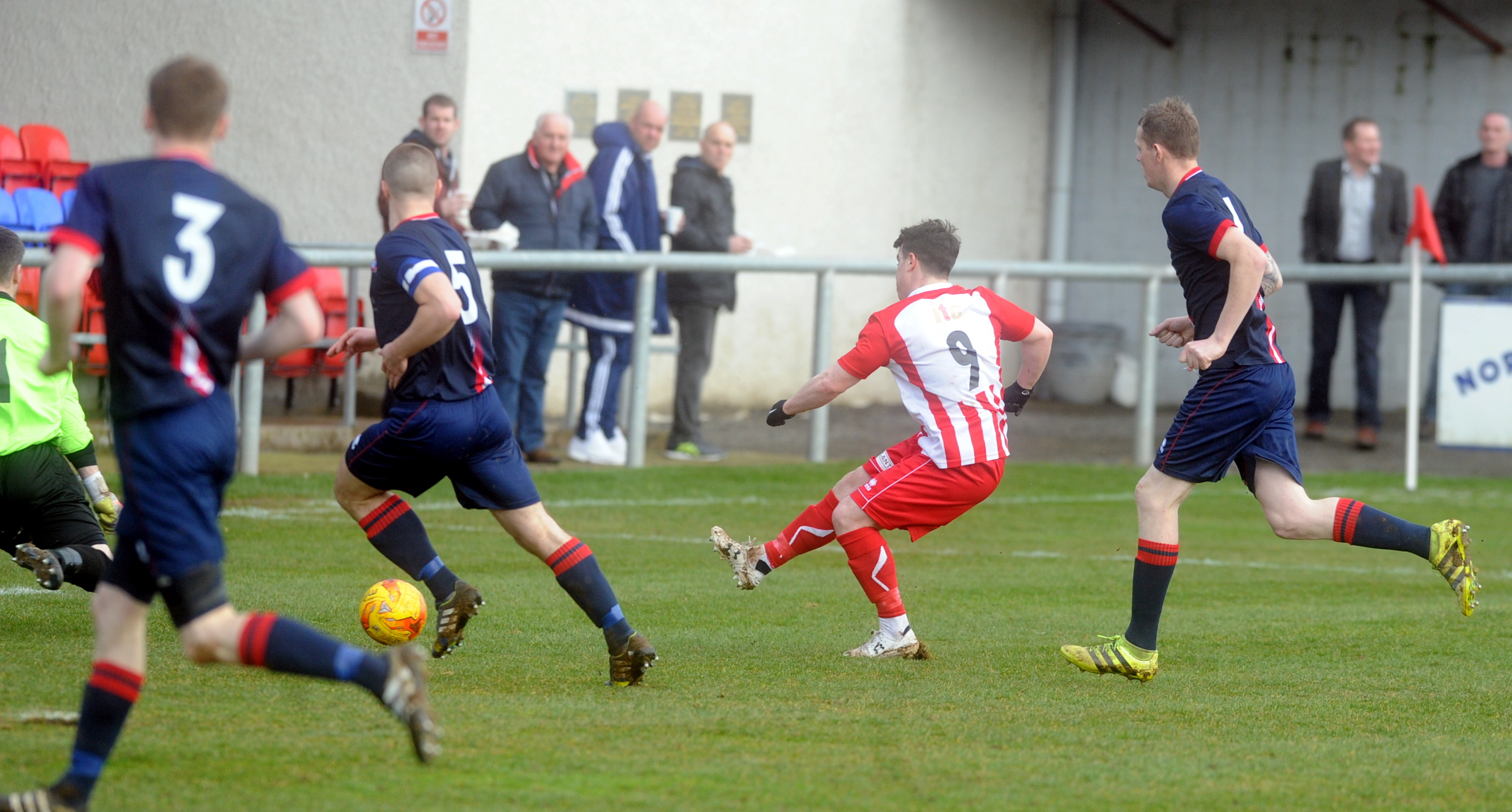 Formartine's Conor Gethins shoots in the semi-final.