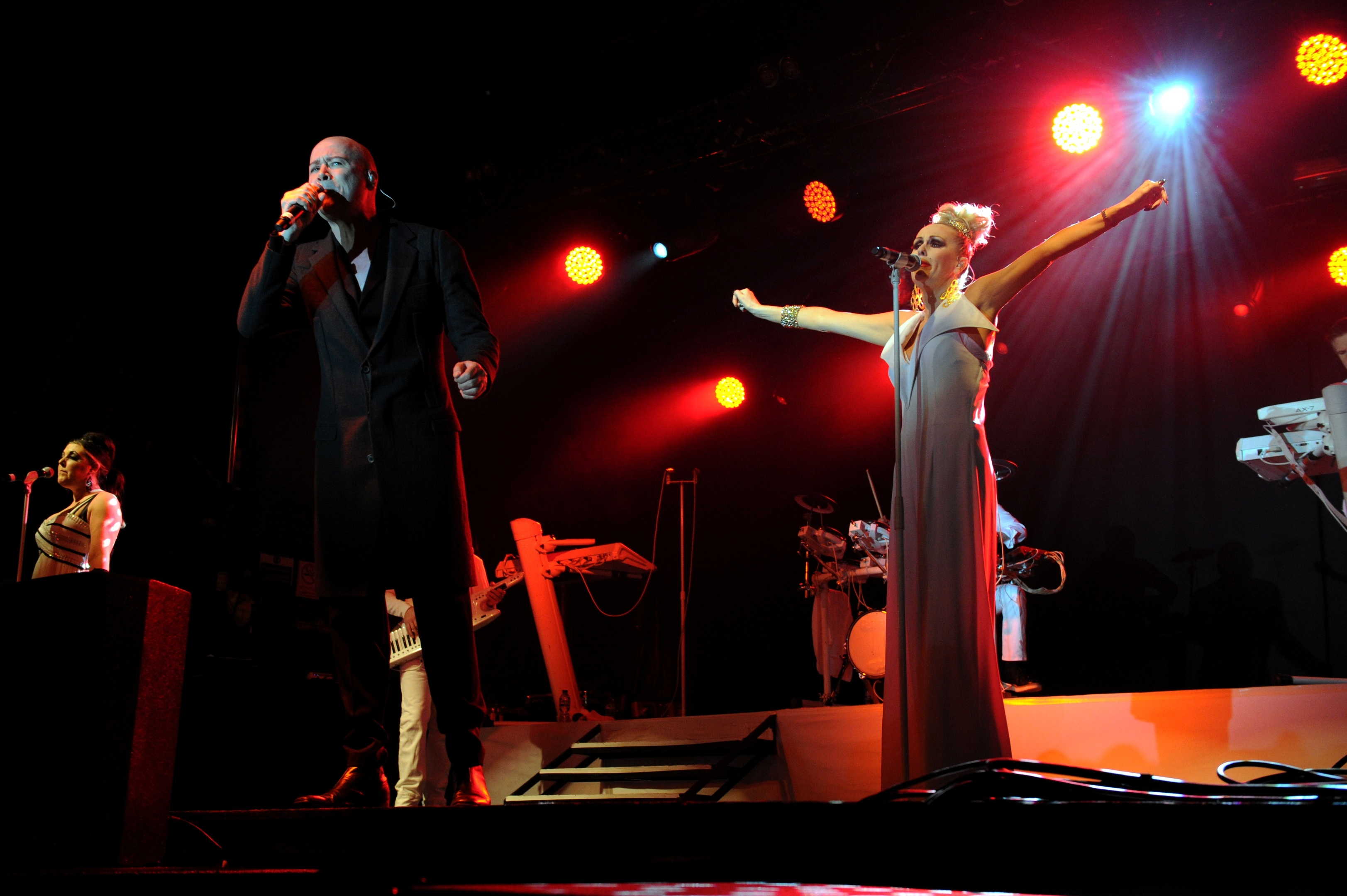 The Human League playing in Stonehaven in 2014.