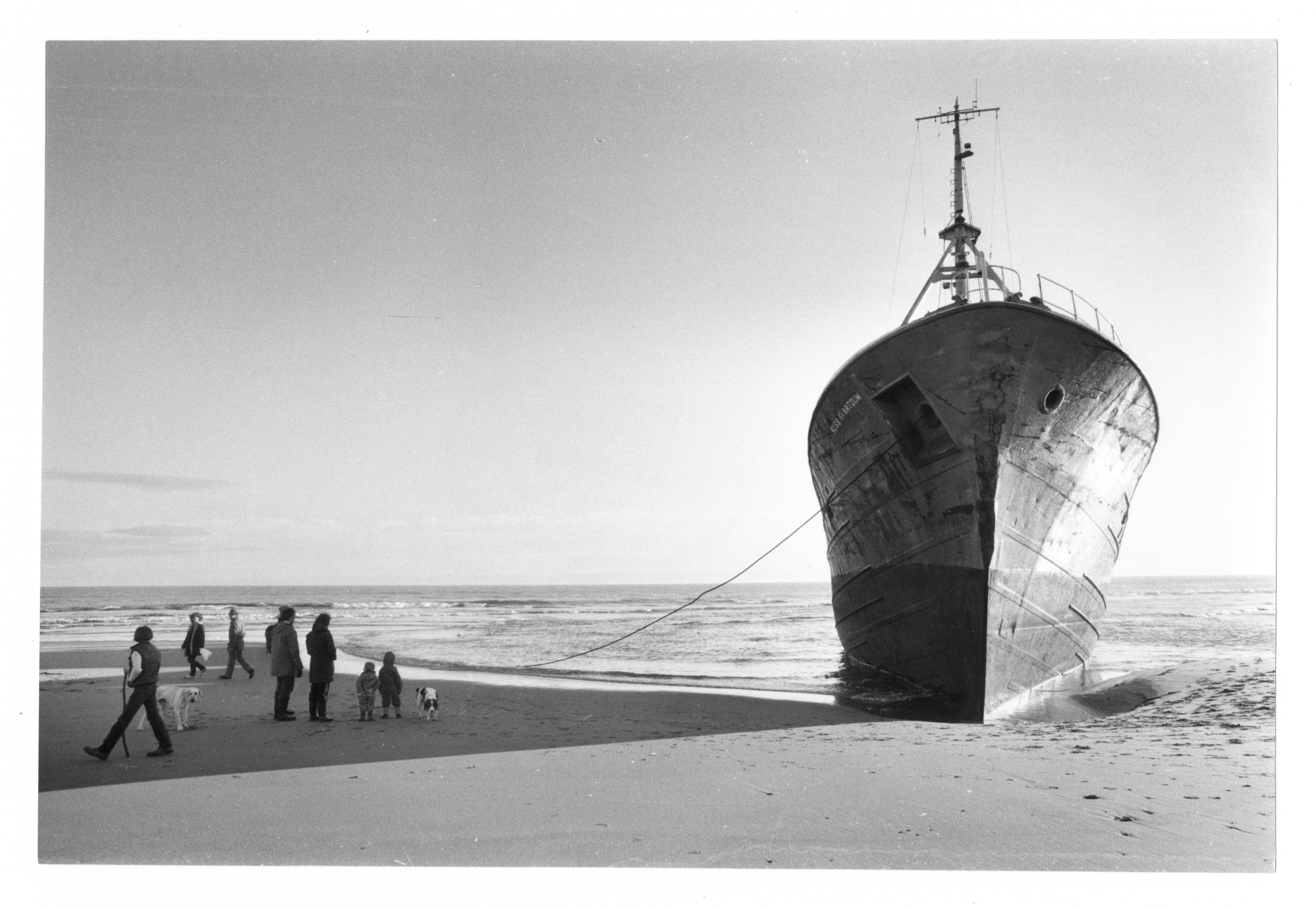 The Ross Khartoum, which was  wrecked on the   near Balmedie just before Christmas.
