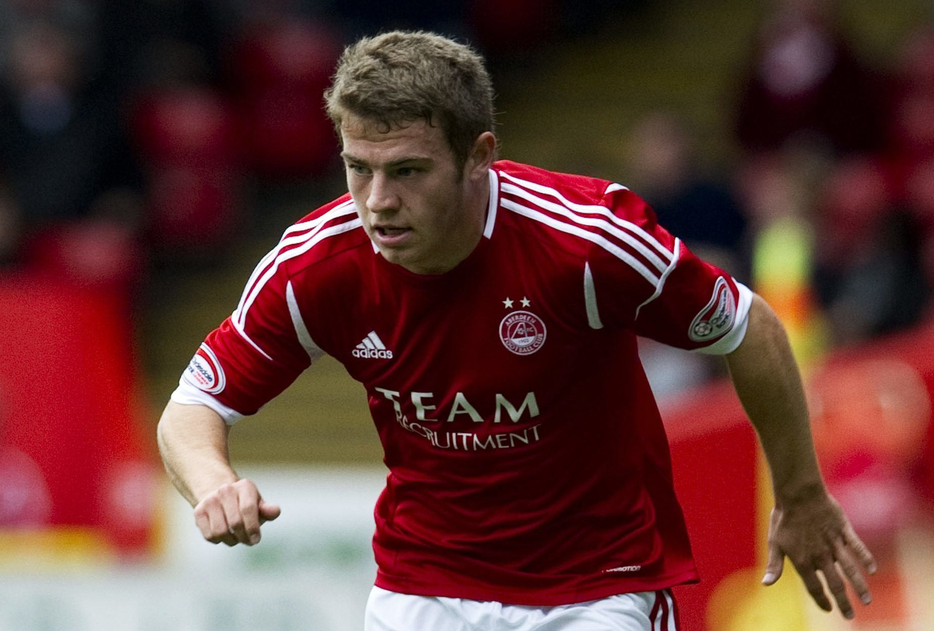 Ryan Fraser in action for the Dons.
