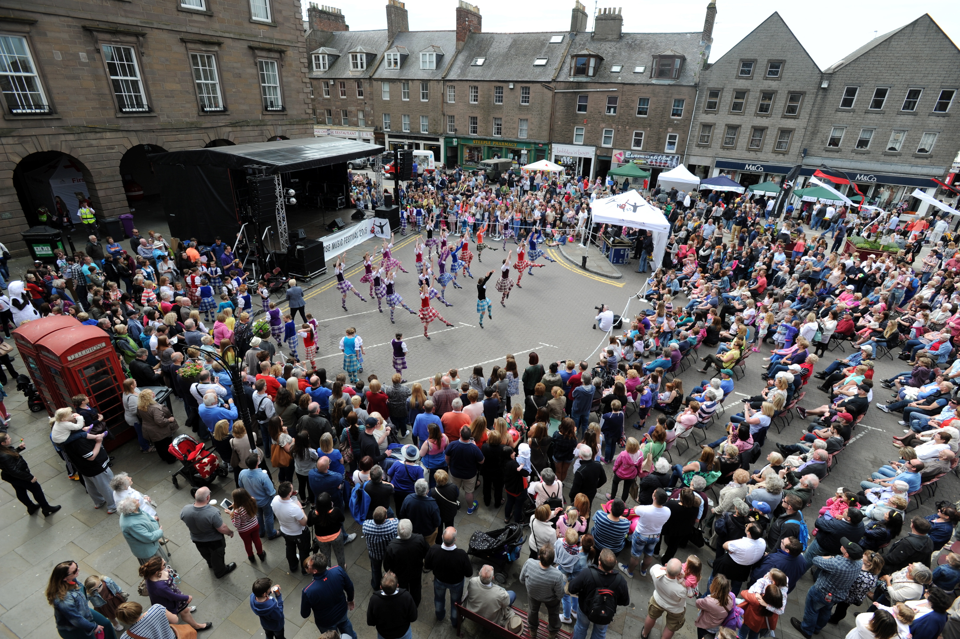 show:  Thousands of revellers attend the Montrose Music Festival every year.