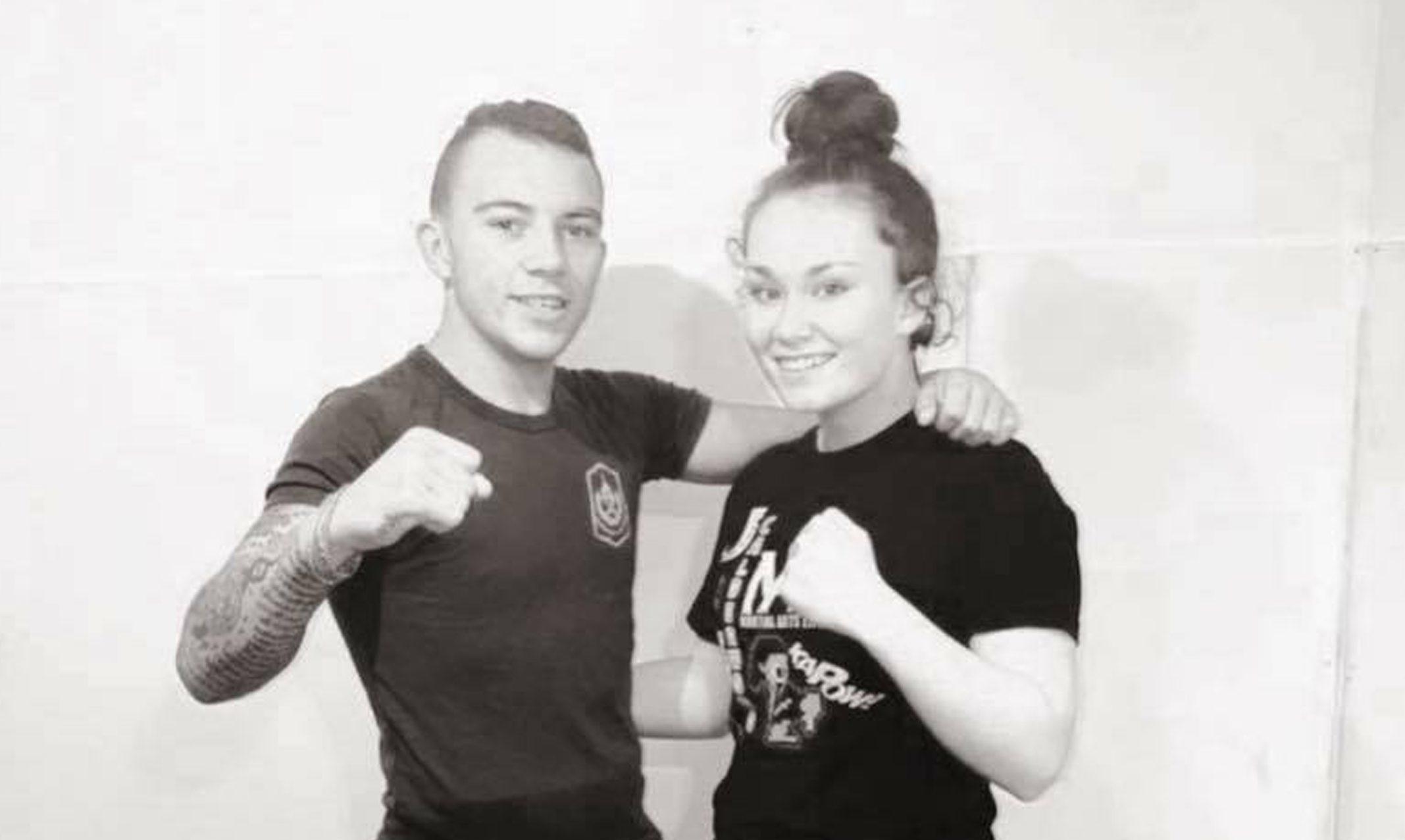 Jordan Coe and Ellie Burr, daughter of Wendy Smith of Granite Fight Factory.