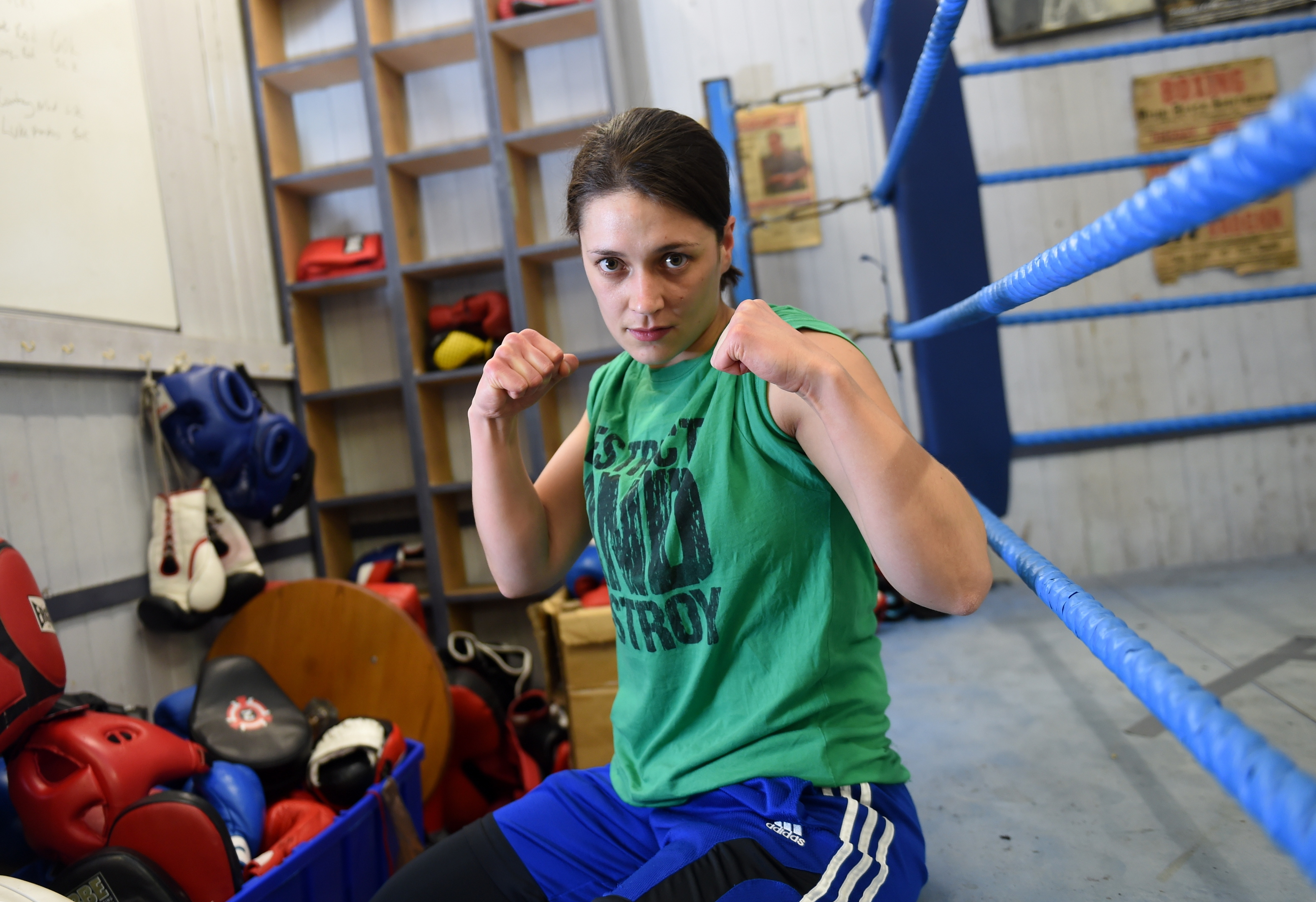 Scotland's first female professional boxer Kristen Fraser.