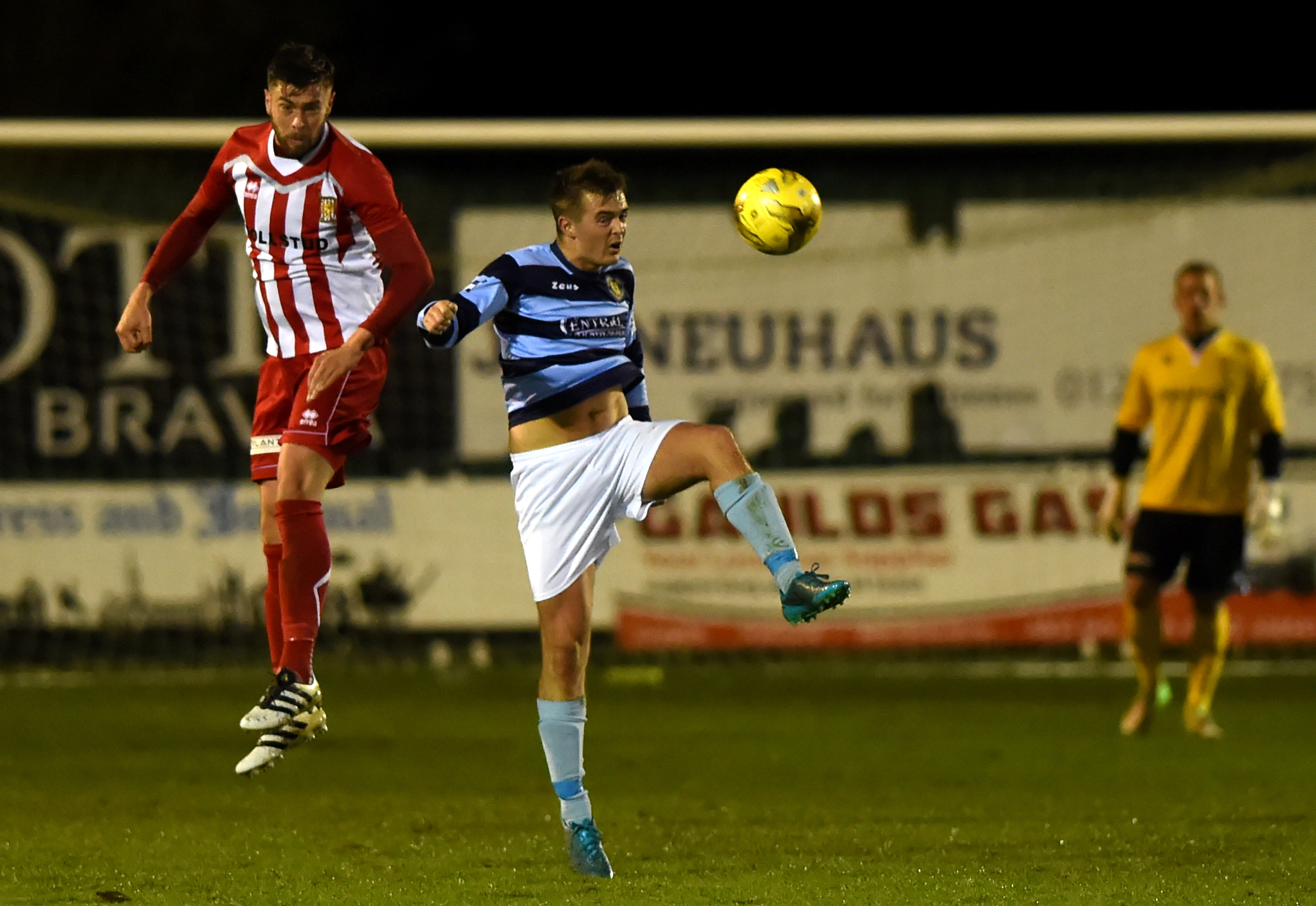 Defender Scott Henry, left, in action for Formartine United