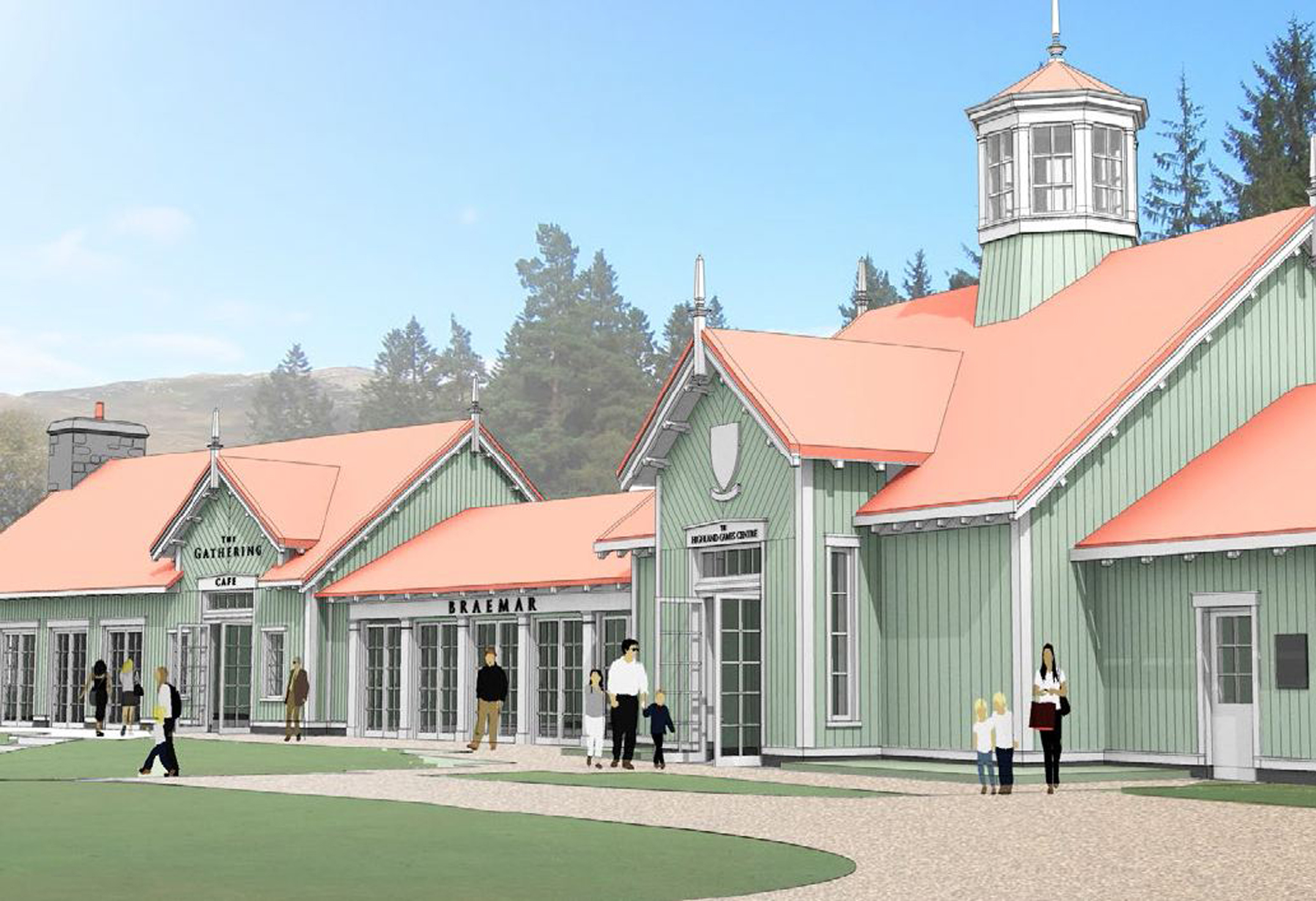 The Braemar Highland Games Centre will create a year-round  attraction.