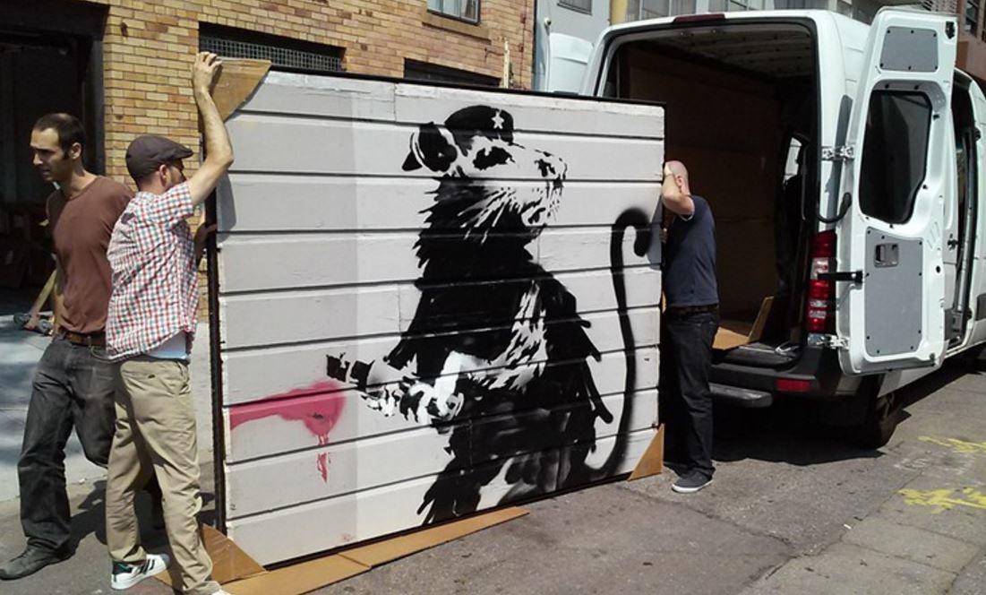 Banksy's Haight Street Rat.