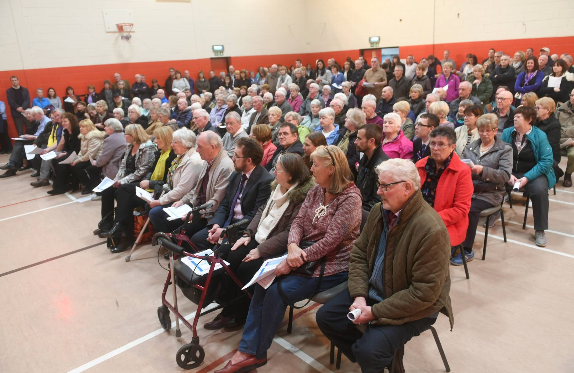 Around 250 people attended the meeting at Kingswells Community Centre.
