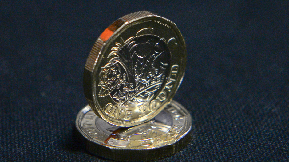 The new 12-sided one pound coin