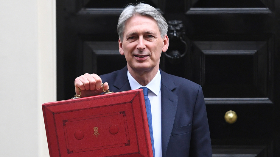 Chancellor Philip Hammond outside 11 Downing Street