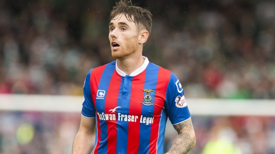 Greg Tansey will be in Caley colours tonight at Pittodrie - against his future employers Aberdeen.