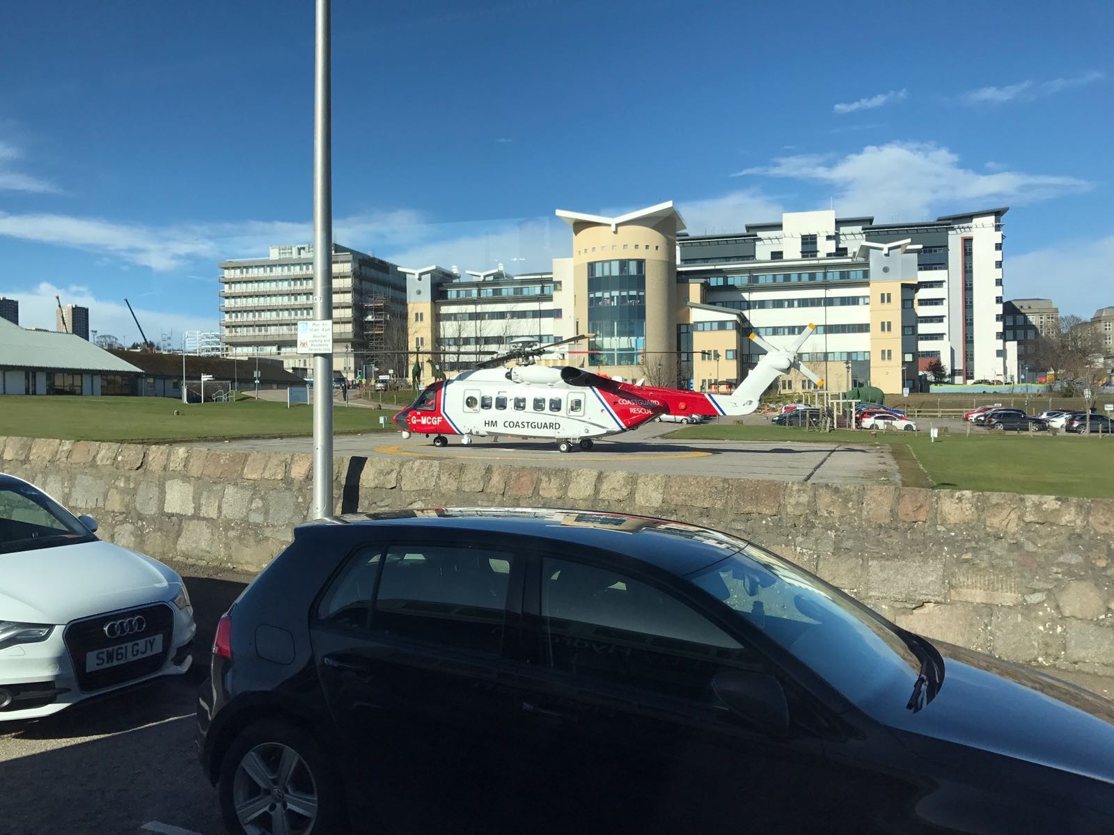 The Coastguard helicopter at ARI today