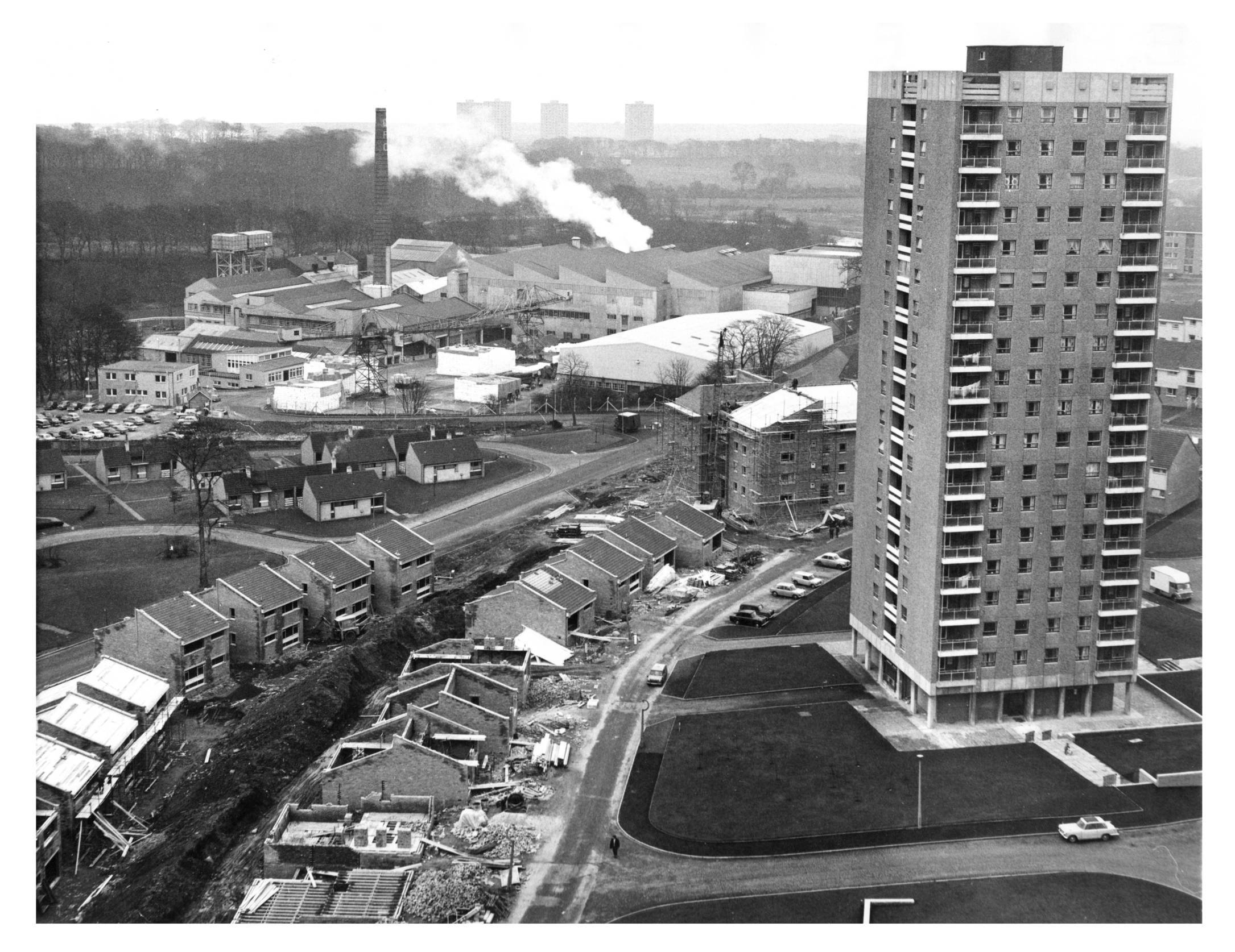Donside Court, right with its views on to the Donside Paperworks and Seaton high-rises in the distance.