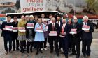 Labour launched its election manifesto outside Aberdeen Art Gallery.