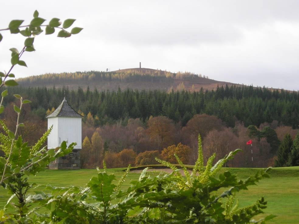 Banchory golf course was vandalised.
