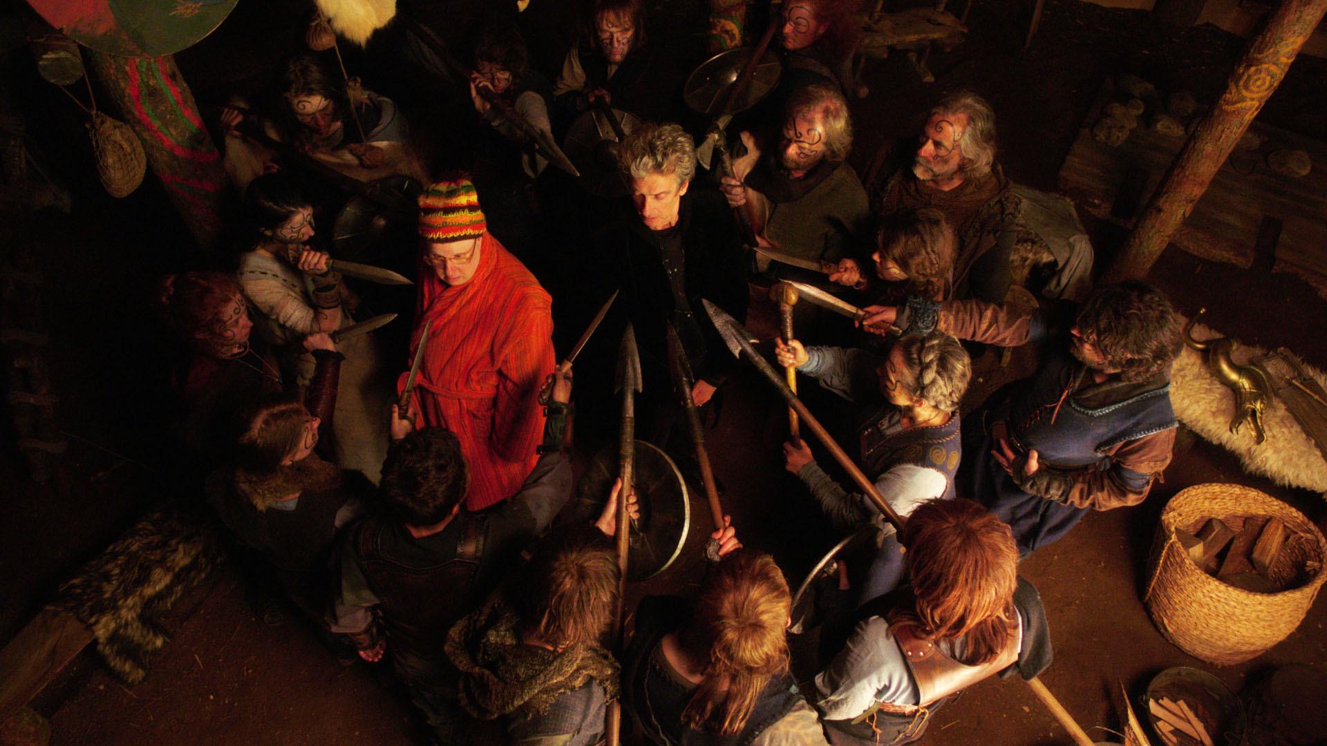 Nardole (Matt Lucas) and The Doctor  (Peter Capaldi) in episode 10, set in Aberdeenshire.
